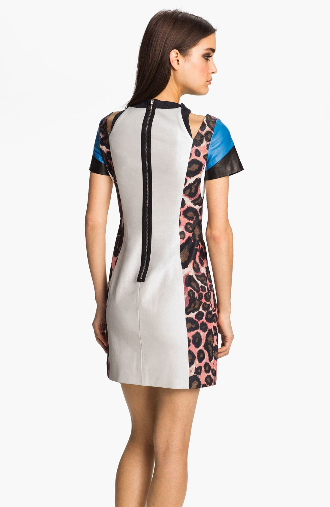 Alternate Image 2  - Rebecca Minkoff 'Abby' Leather Trim Mixed Media Dress