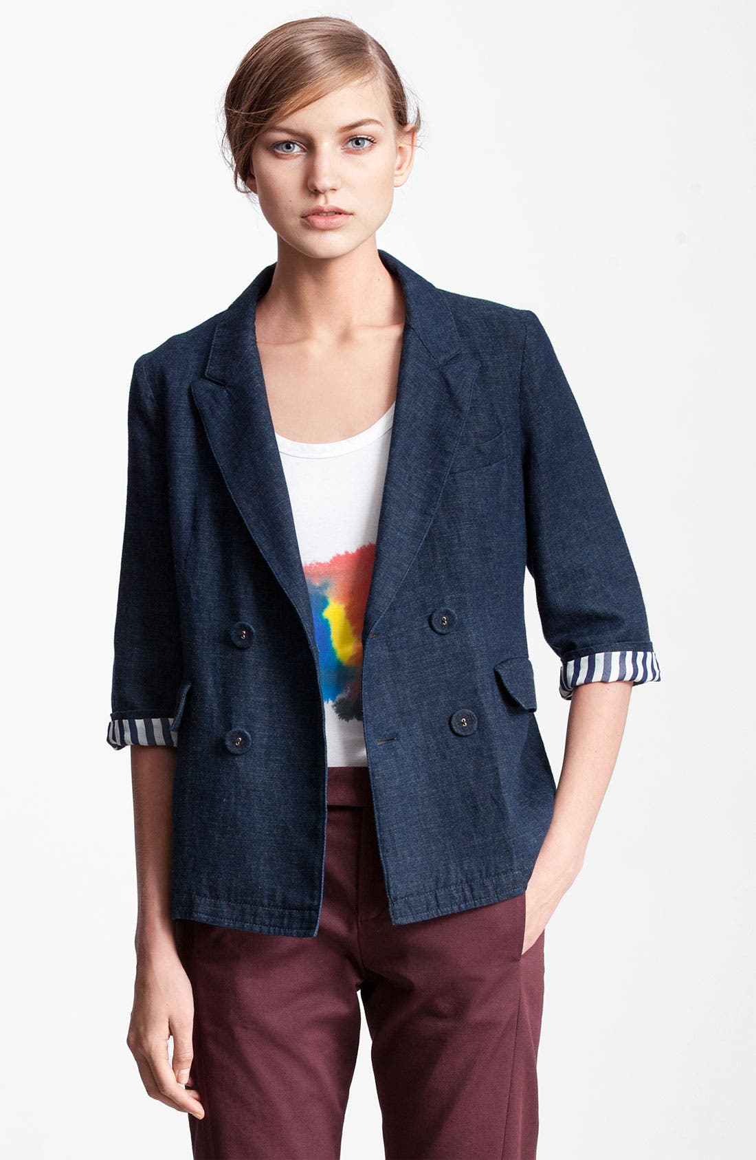 Alternate Image 1 Selected - Marni Edition Double Breasted Denim Jacket