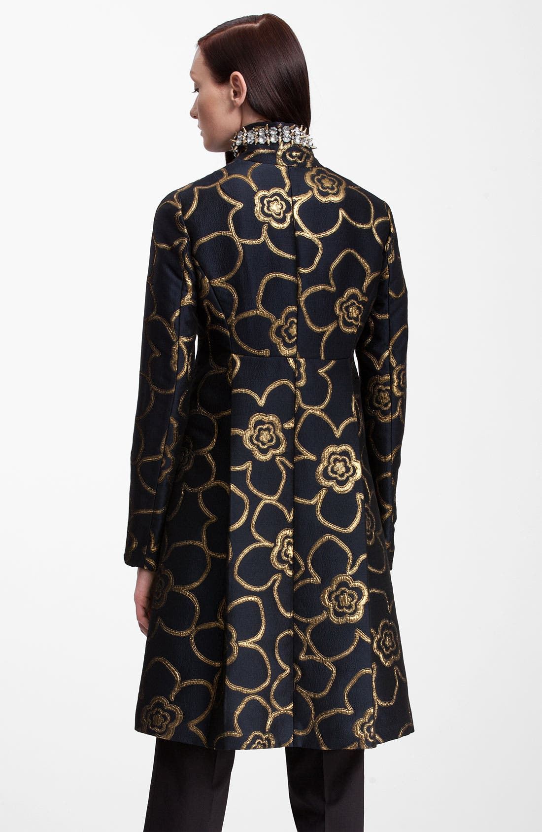 Alternate Image 2  - Marni Jewel Collar Metallic Jacquard Coat