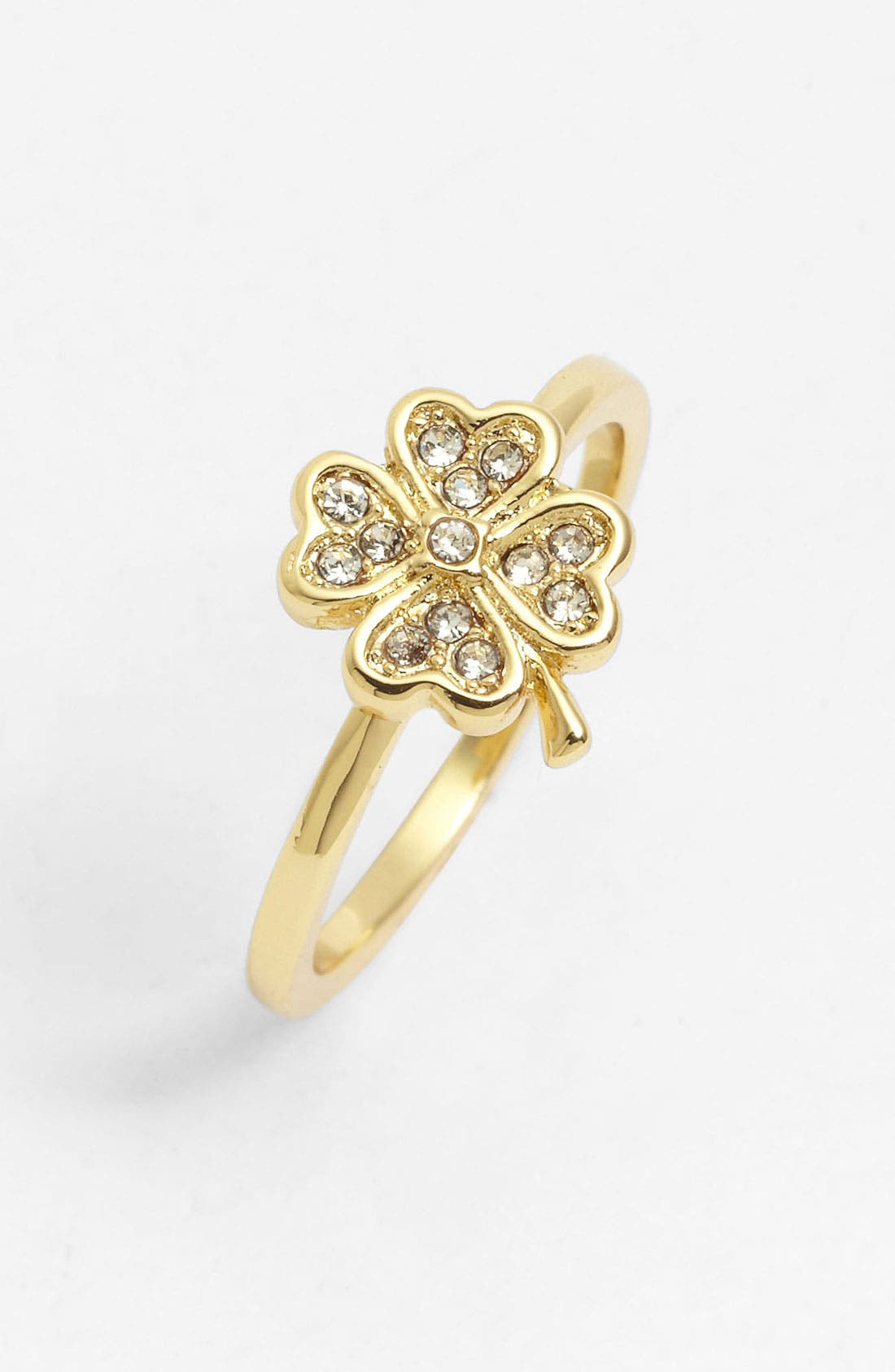 Main Image - Ariella Collection Pavé Clover Ring