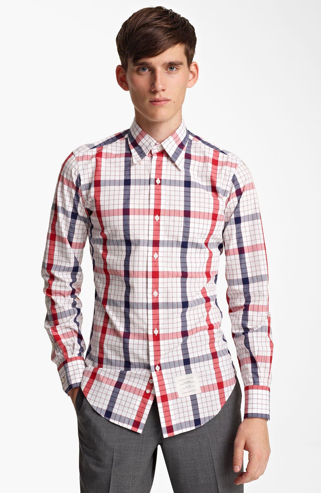 Alternate Image 3  - Thom Browne Poplin Check Shirt