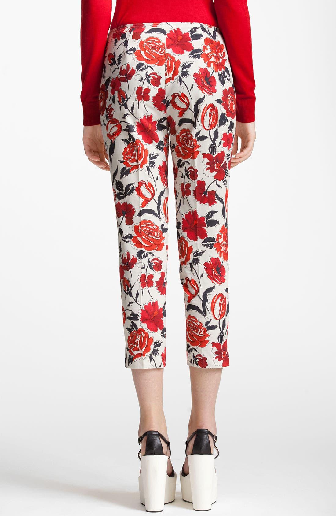 Alternate Image 2  - Jil Sander Navy Garden Print Skinny Crop Pants