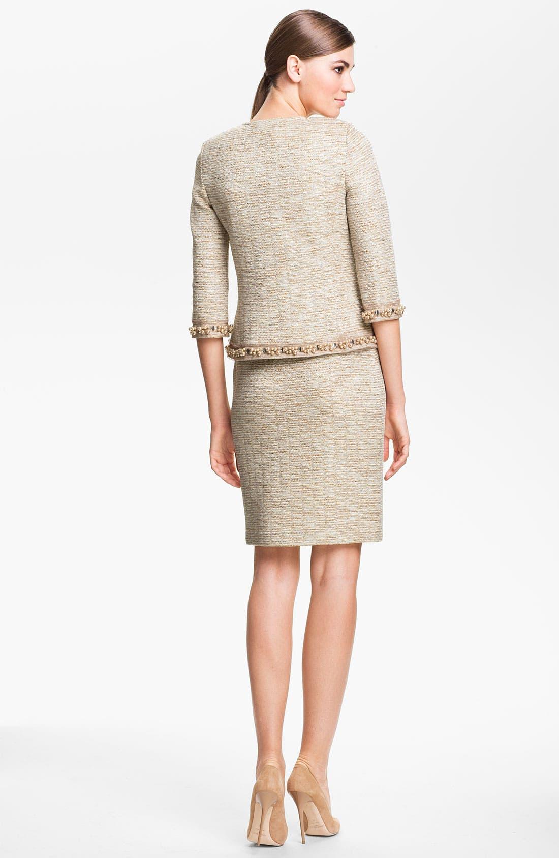 Alternate Image 4  - St. John Collection Shimmer Knit Pencil Skirt