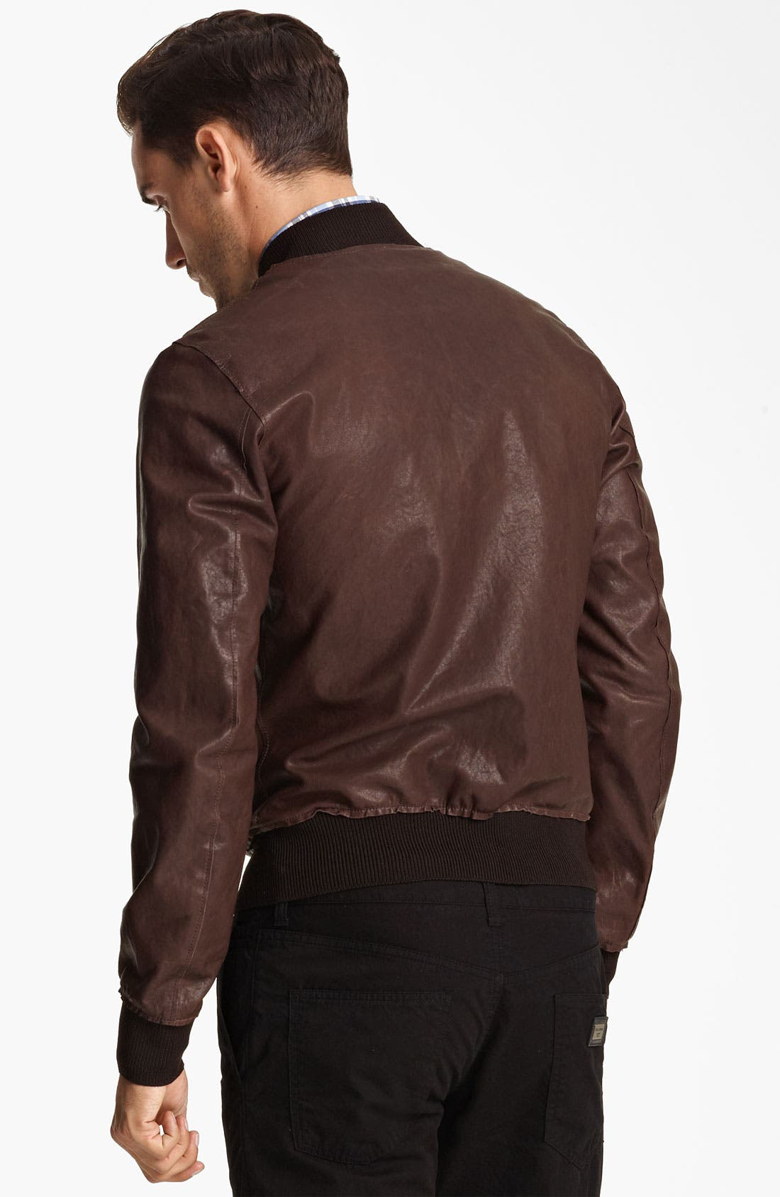 Alternate Image 2  - Dolce&Gabbana Leather Bomber Jacket