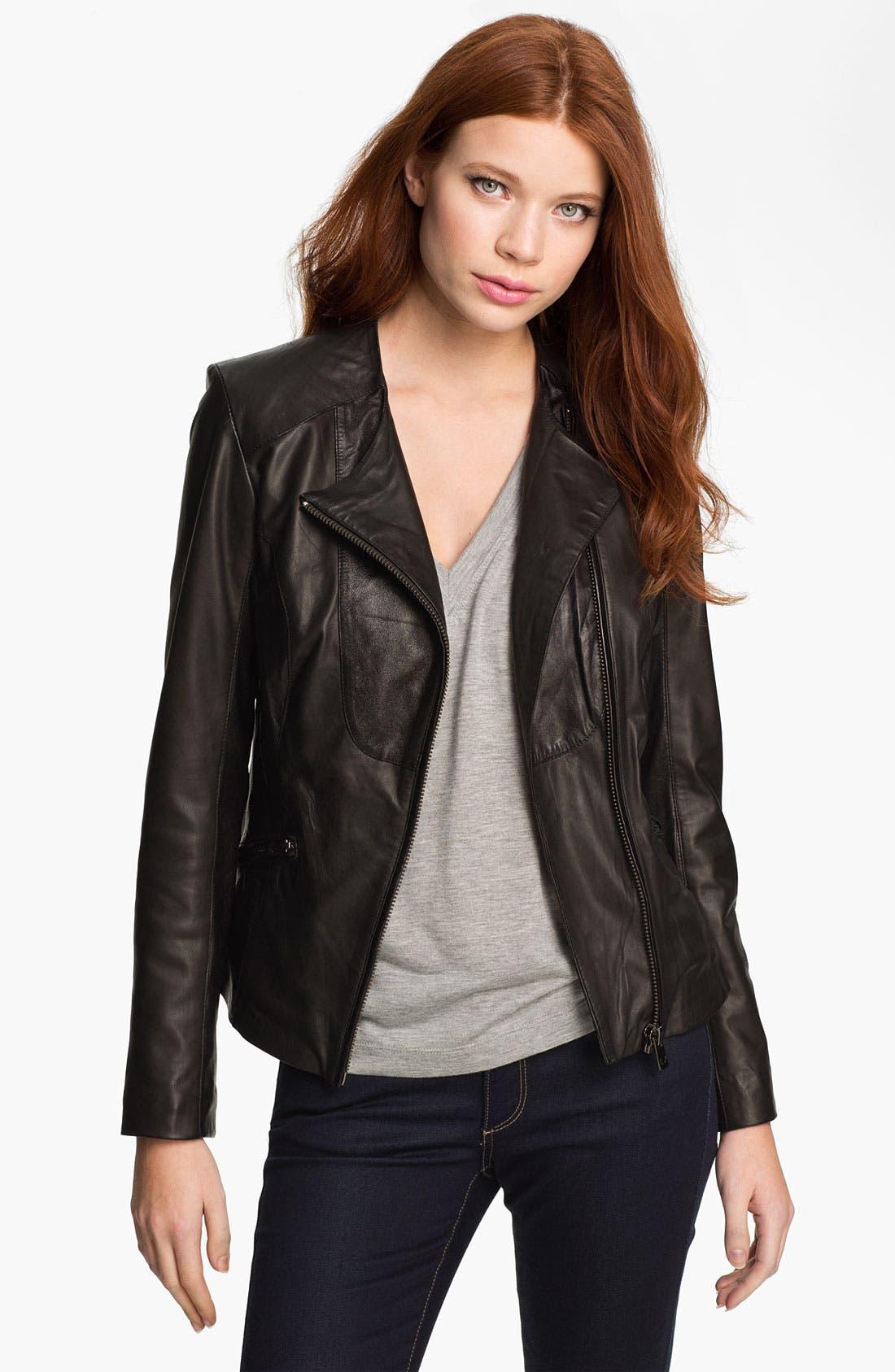 Main Image - Bod & Christensen Leather Moto Jacket (Online Exclusive)