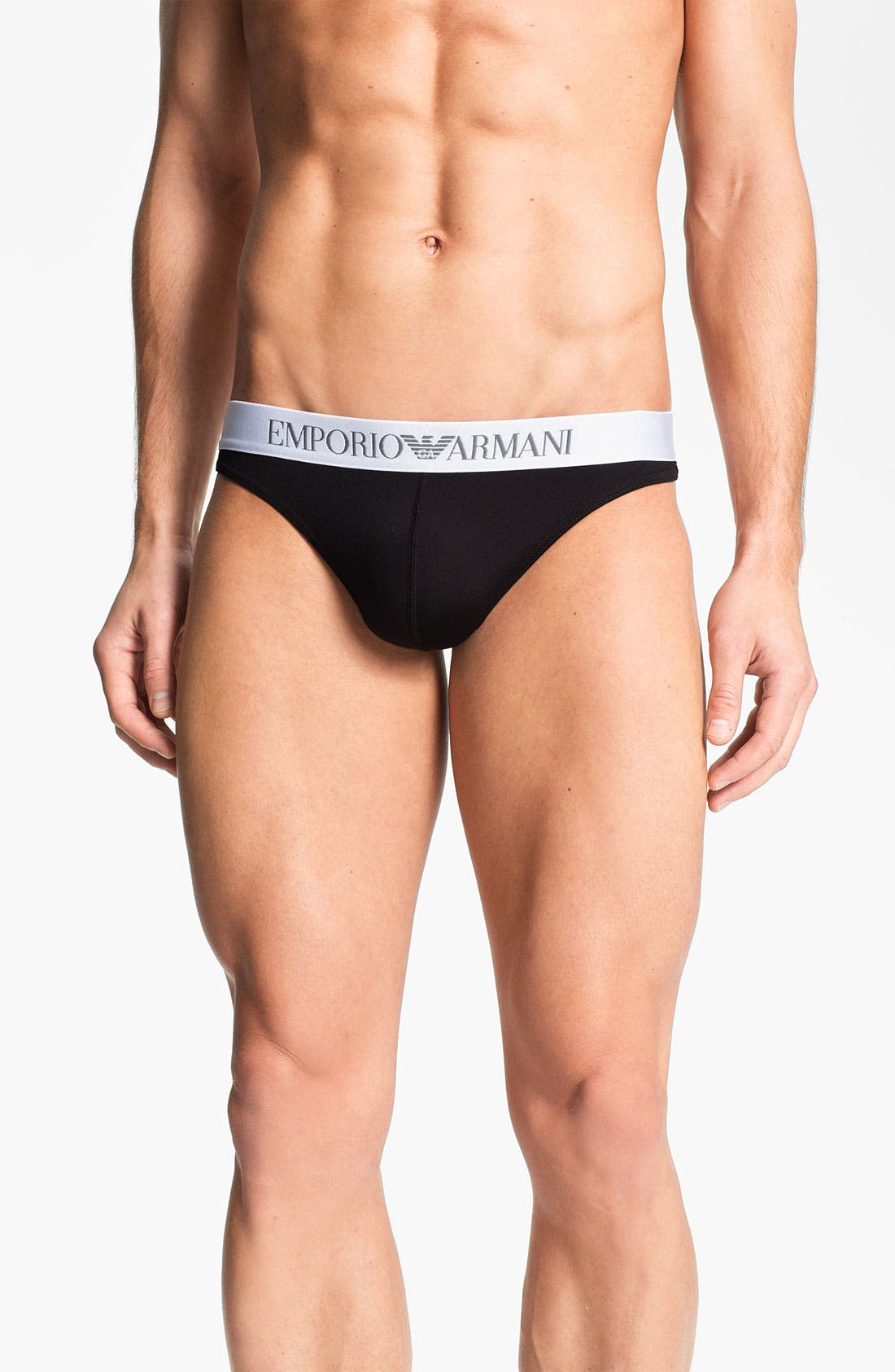 Alternate Image 1 Selected - Emporio Armani Microfiber Thong