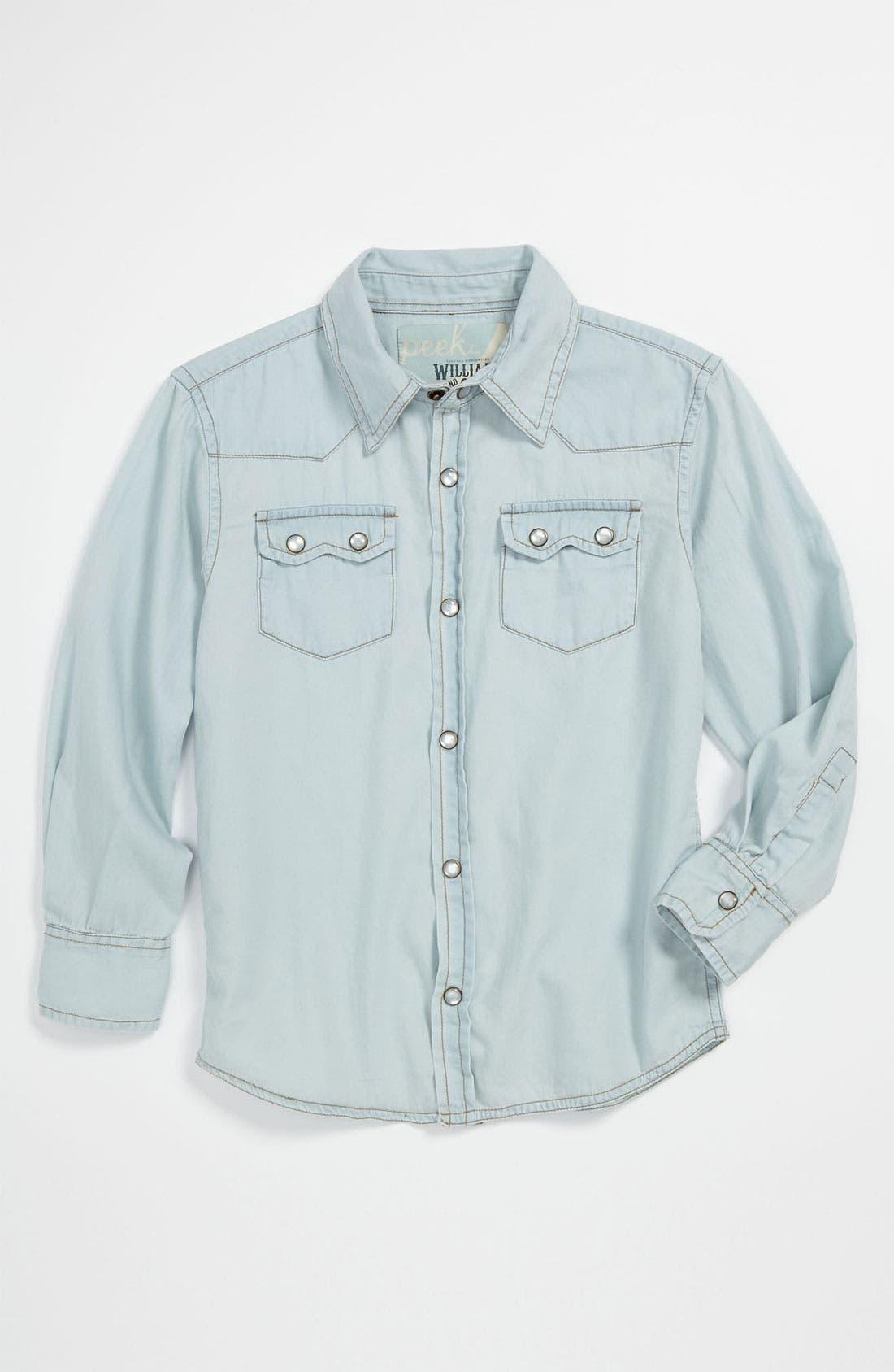 Alternate Image 1 Selected - Peek 'Sawtooth' Western Shirt (Toddler, Little Boys & Big Boys)