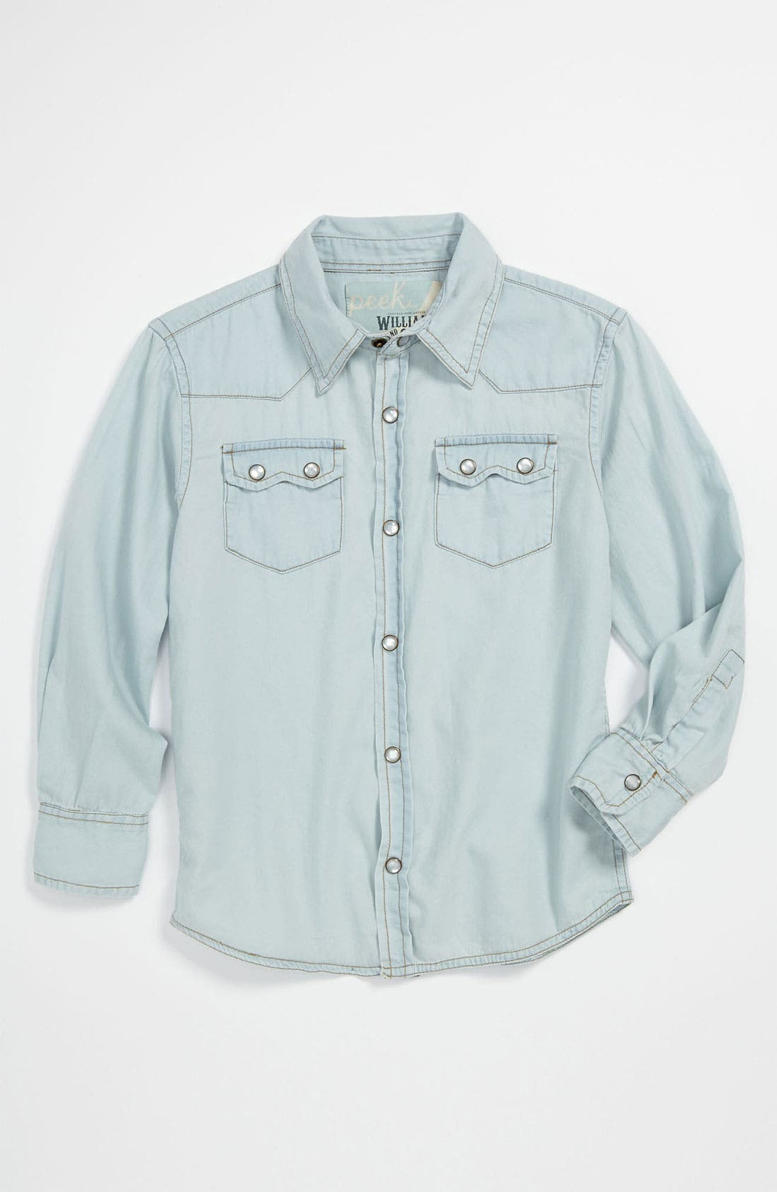 Main Image - Peek 'Sawtooth' Western Shirt (Toddler, Little Boys & Big Boys)