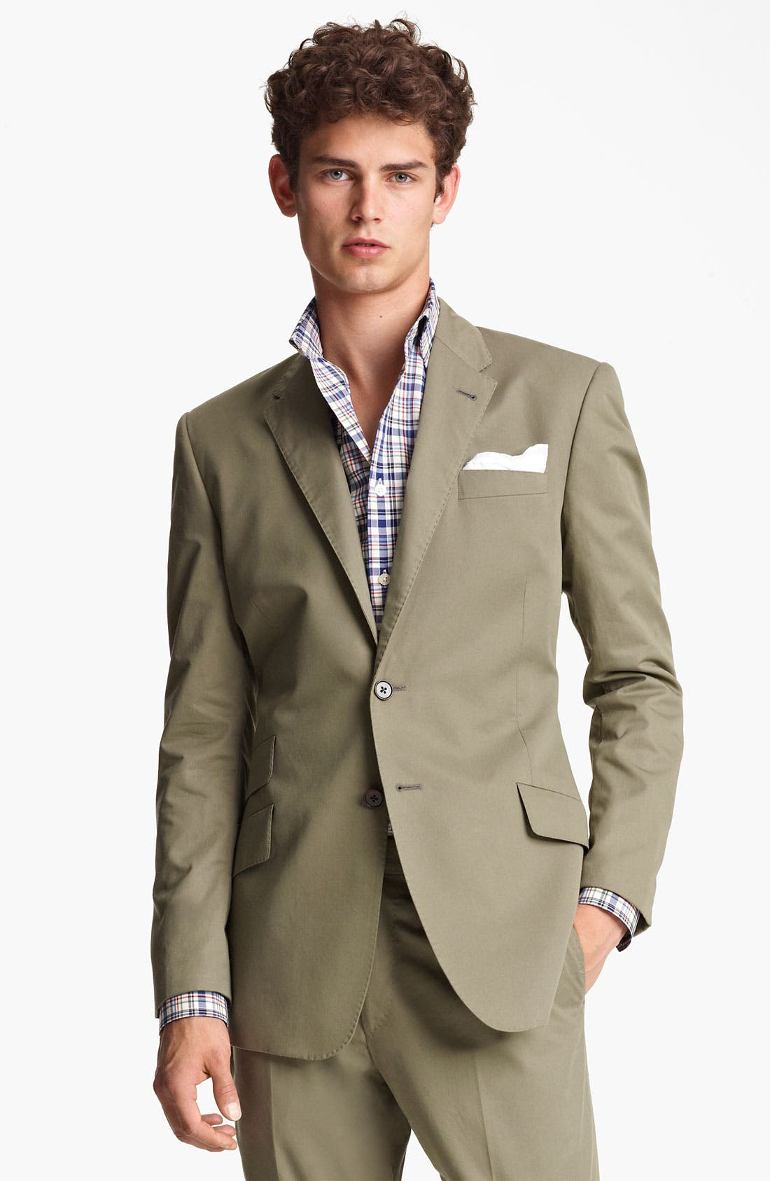 Alternate Image 1 Selected - Paul Smith London Slim Fit Cotton Suit