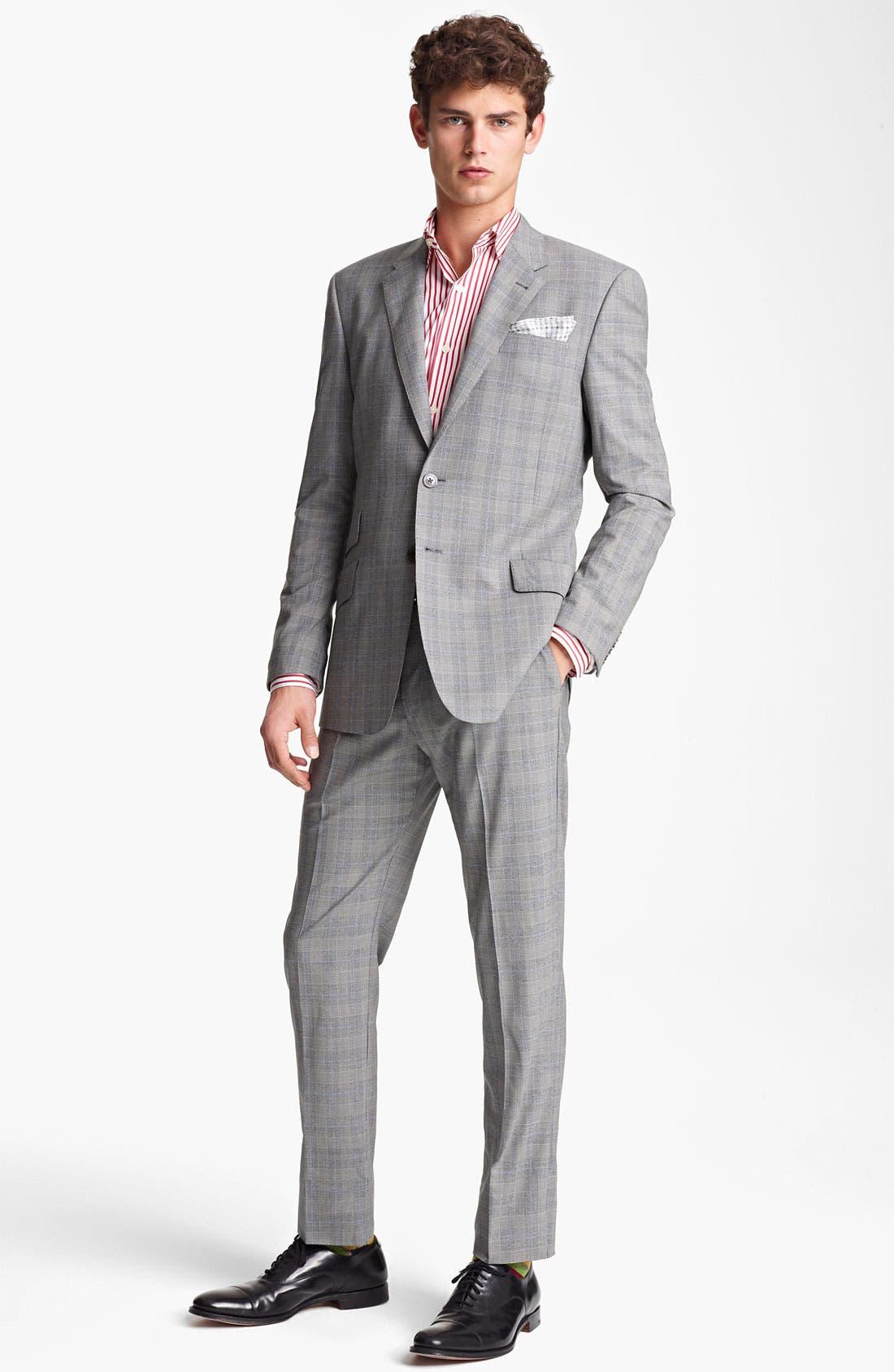 Alternate Image 2  - Paul Smith London Slim Fit Glen Plaid Wool Suit