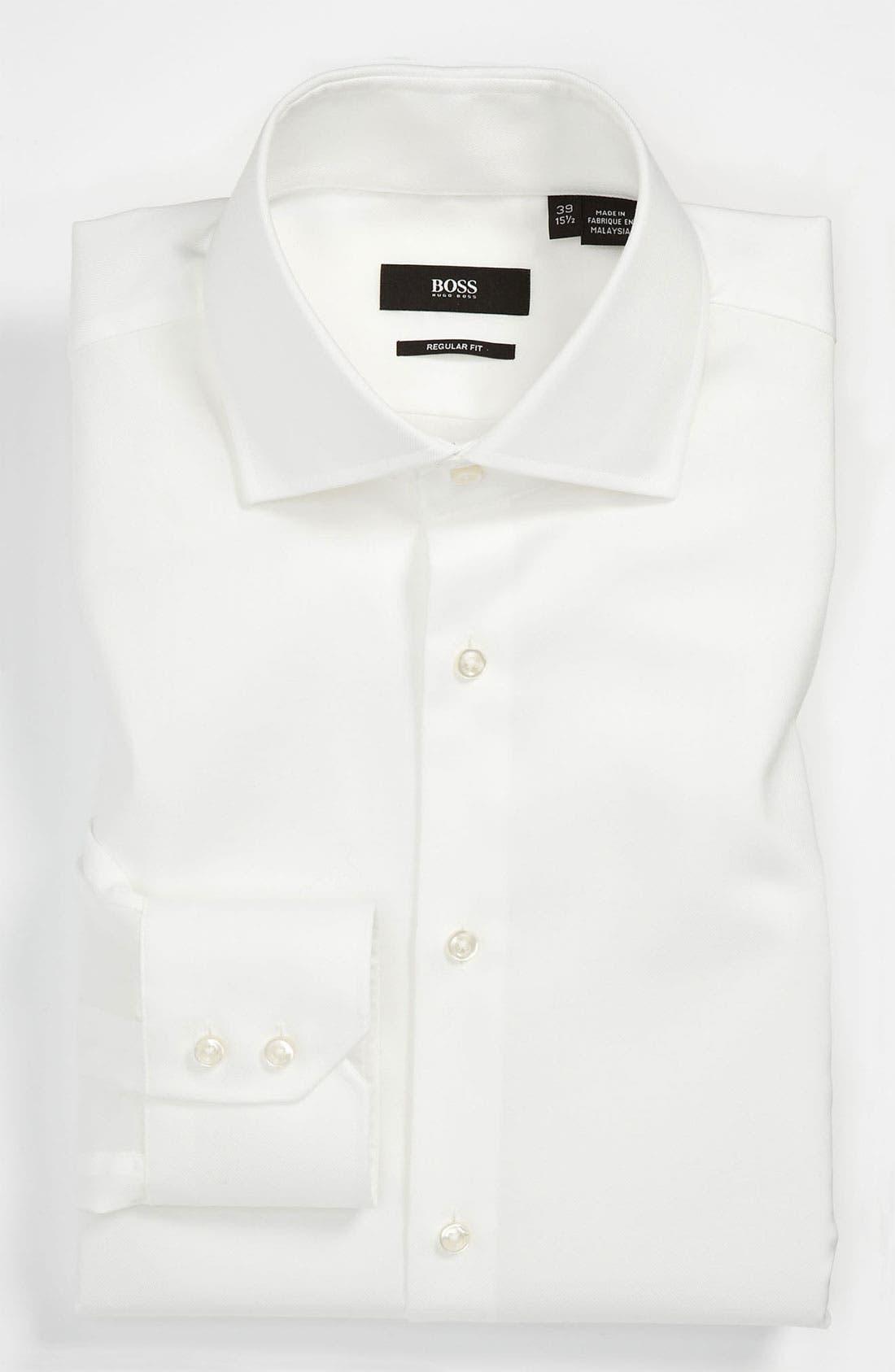 Alternate Image 1 Selected - BOSS Black Regular Fit Easy Iron Dress Shirt