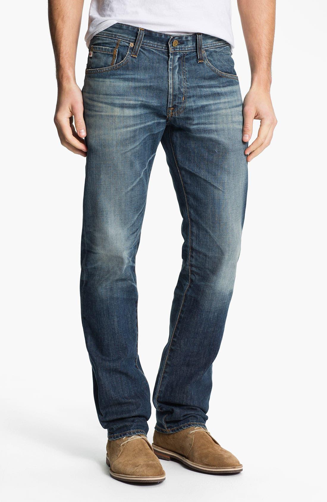 Alternate Image 1 Selected - AG Jeans 'Matchbox' Slim Straight Leg Jeans (12 Year Sand)