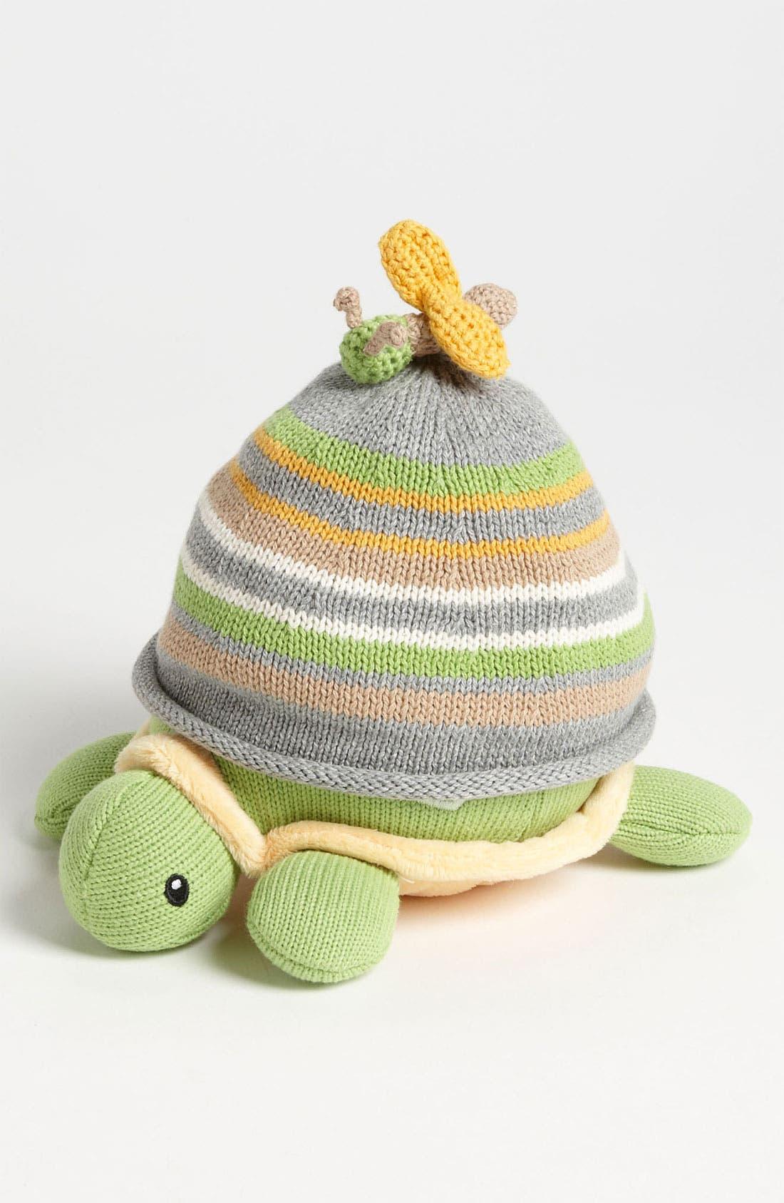 Alternate Image 1 Selected - Baby Aspen Turtle & Hat Gift Set (Infant)