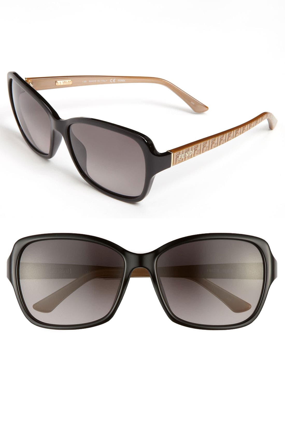 Alternate Image 1 Selected - Fendi 'Basic Mini Logo' 58mm Sunglasses
