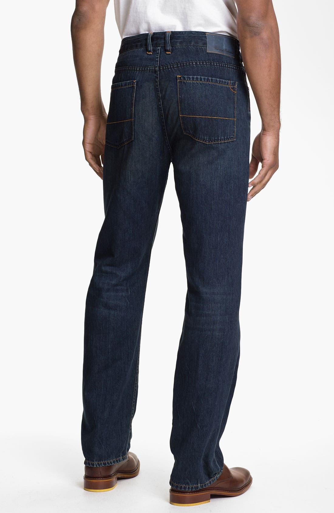 Alternate Image 2  - Tommy Bahama Denim 'Coastal Island Ease' Straight Leg Jeans (Dark Storm) (Big & Tall)