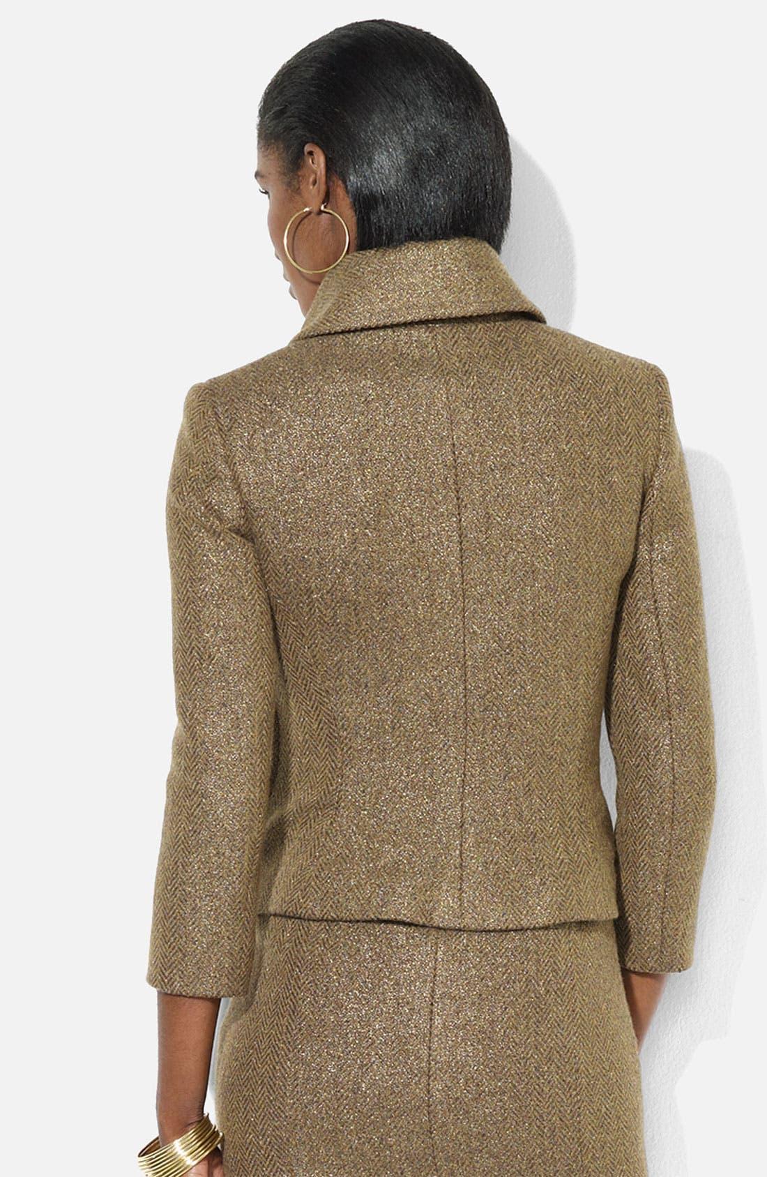 Alternate Image 2  - Lauren Ralph Lauren Metallic Herringbone Jacket
