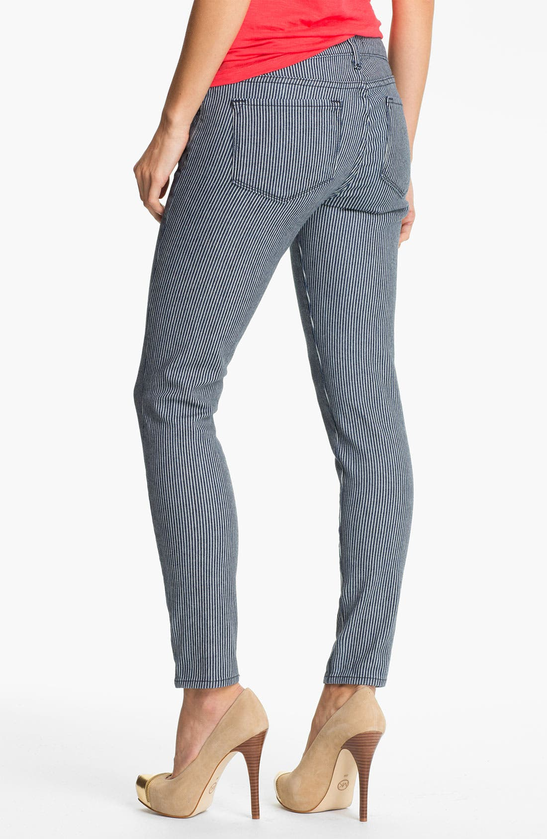 Alternate Image 2  - Blue Essence Railroad Stripe Skinny Jeans (Nordstrom Exclusive)