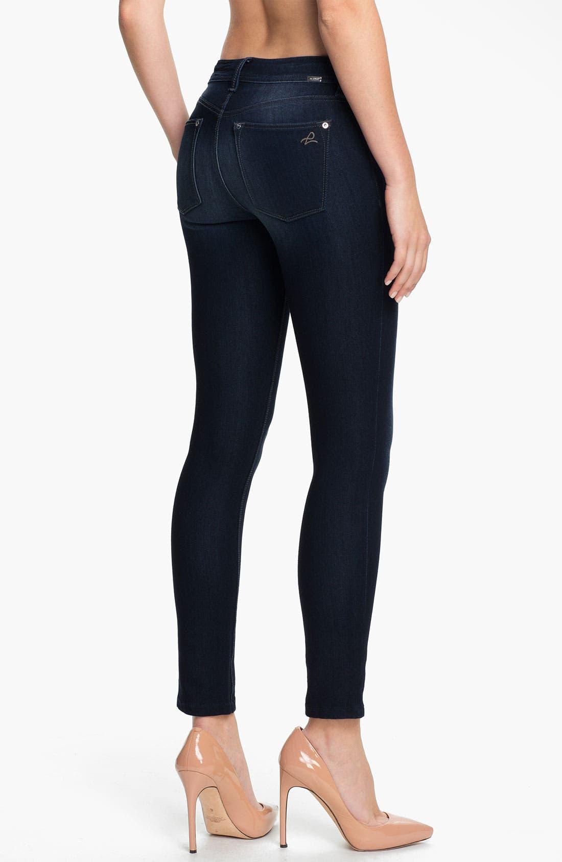 Alternate Image 2  - DL1961 'Emma' Power Legging Jeans (Bloom)