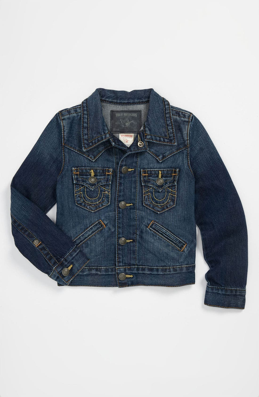Alternate Image 1 Selected - True Religion Brand Jeans 'Johnny' Denim Jacket (Little Boys)