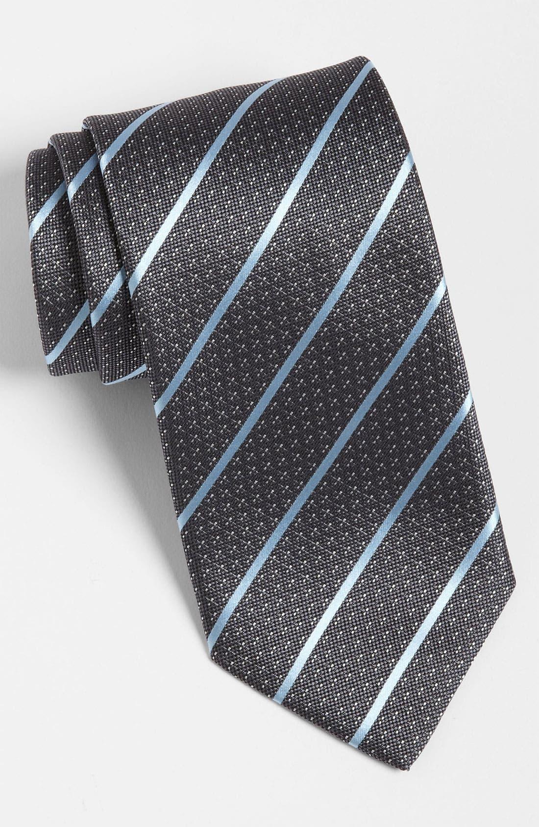 Alternate Image 1 Selected - Yves Saint Laurent Stripe Silk Woven Tie