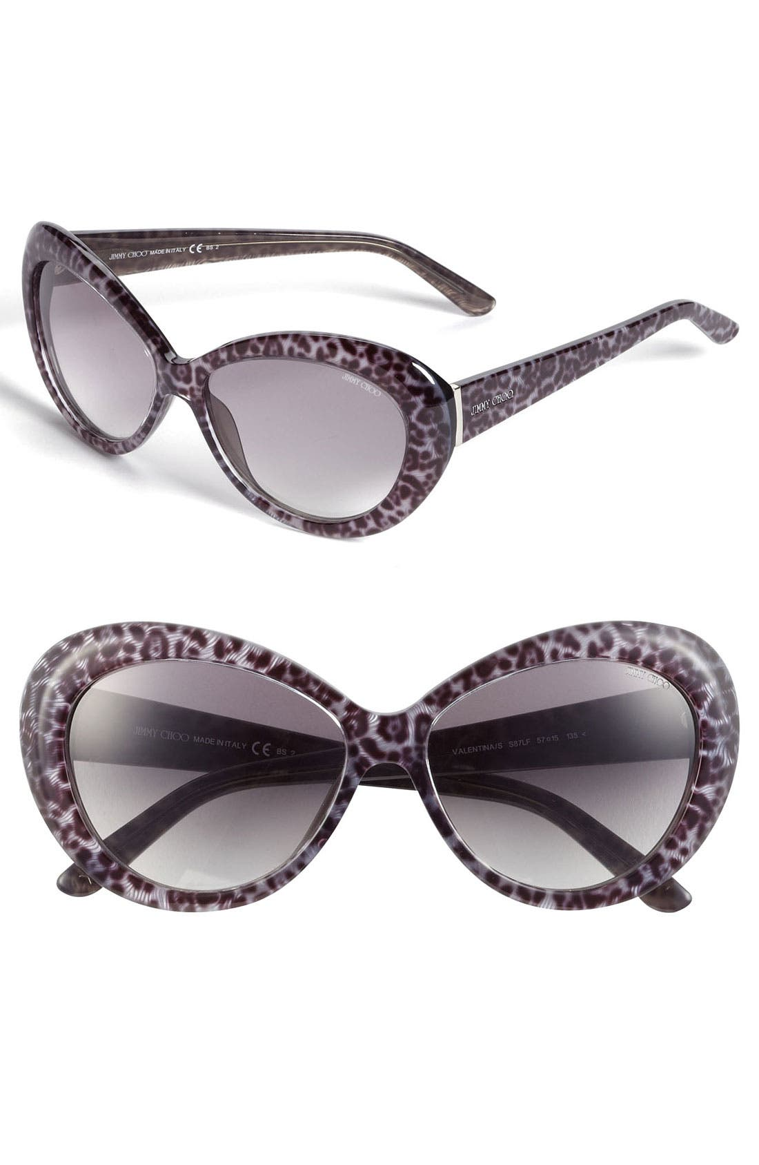 Alternate Image 1 Selected - Jimmy Choo 'Valentina' 57mm Cat Eye Sunglasses