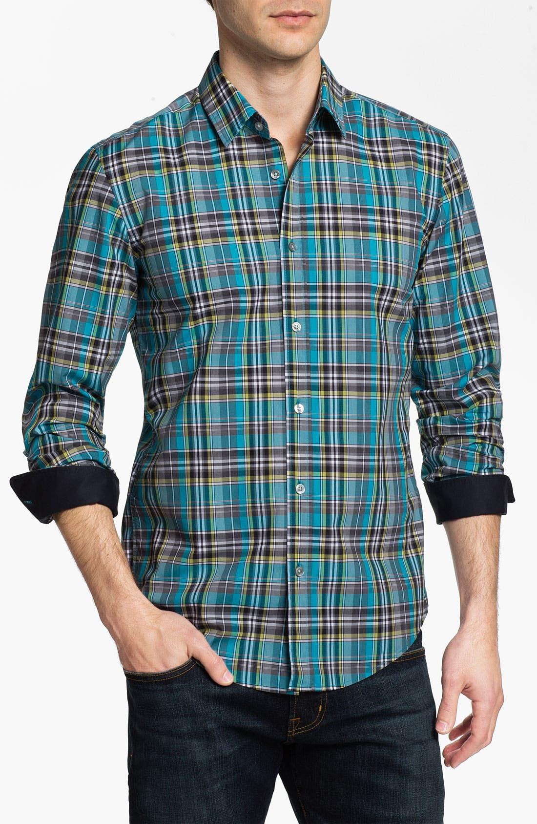 Alternate Image 1 Selected - BOSS Black 'Ronny' Slim Fit Sport Shirt