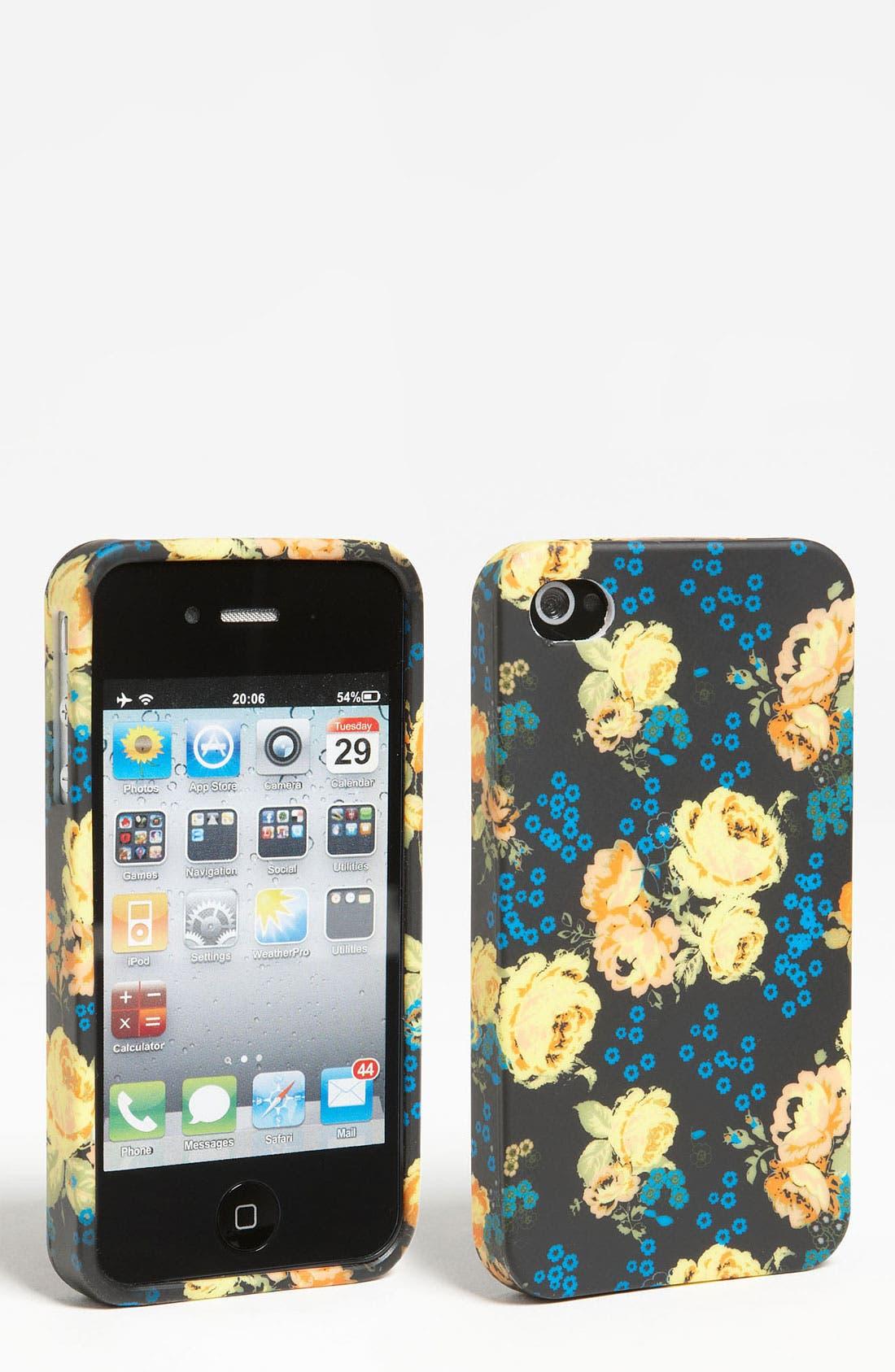 Alternate Image 1 Selected - Design Lab 'Matte Floral' iPhone 4 & 4S Case