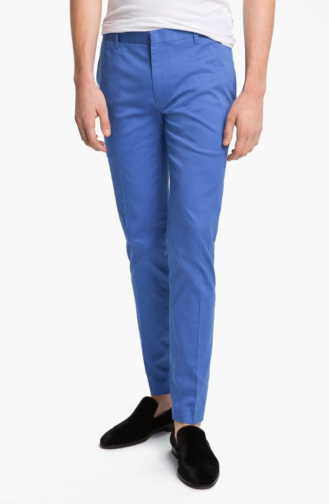 Alternate Image 1 Selected - Topman Ultra Skinny Fit Trousers
