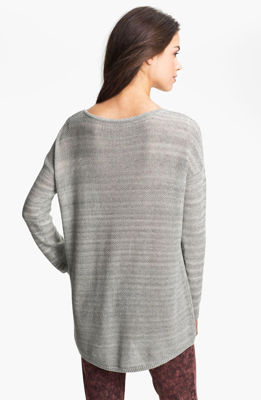 Alternate Image 2  - Rubbish® Knit Oversized Sweater (Juniors)