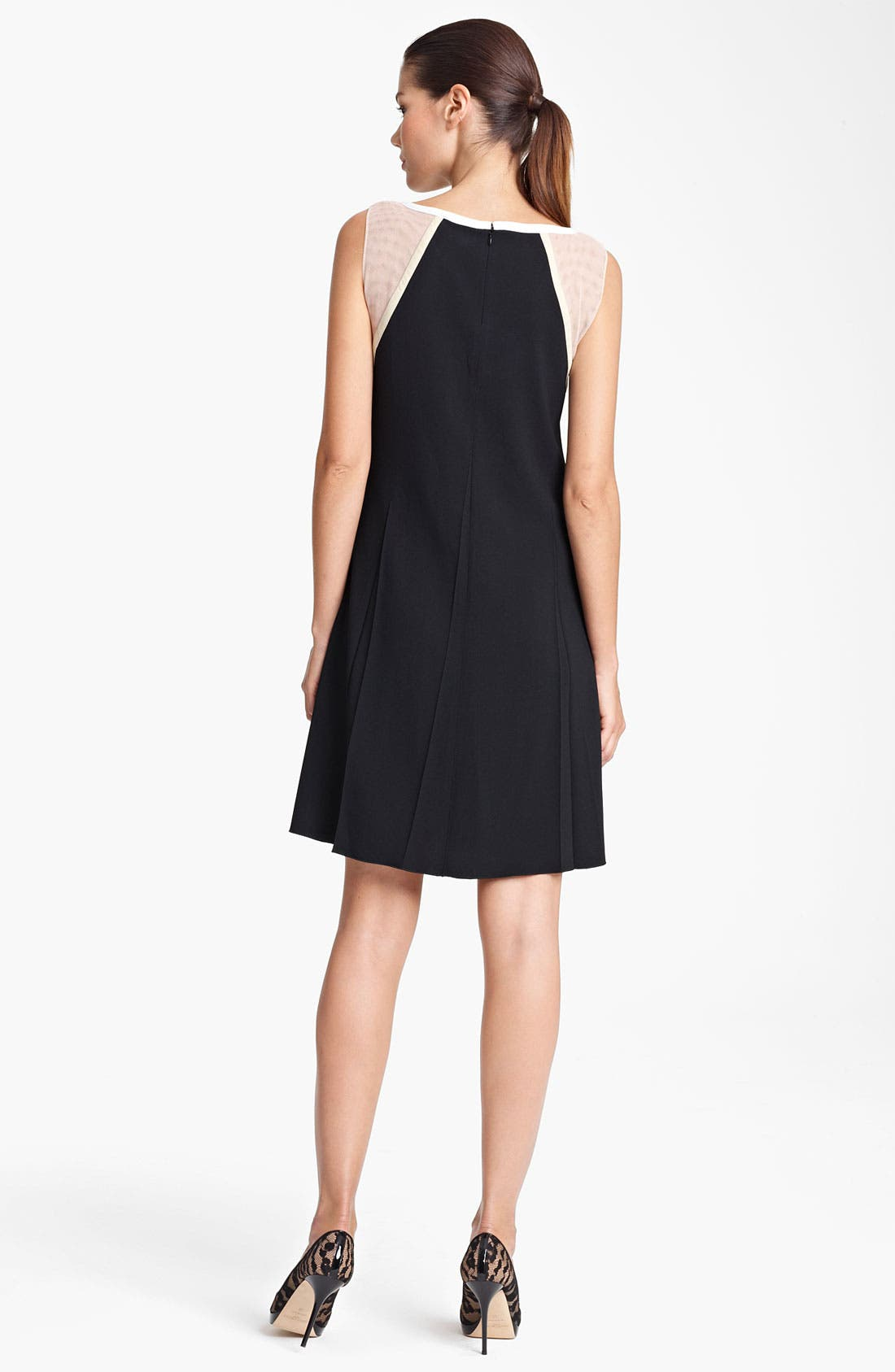 Alternate Image 2  - Piazza Sempione Mesh Inset Crepe Dress