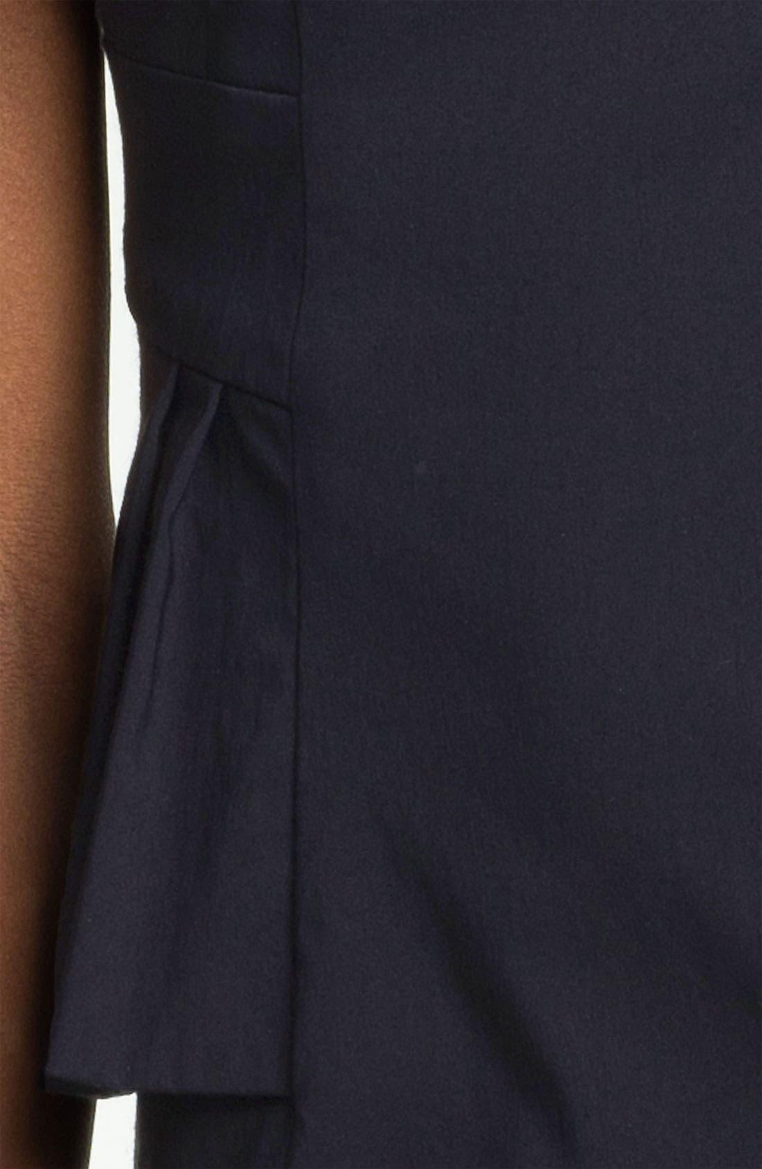 Alternate Image 3  - Kay Unger Cap Sleeve Side Peplum Woven Dress