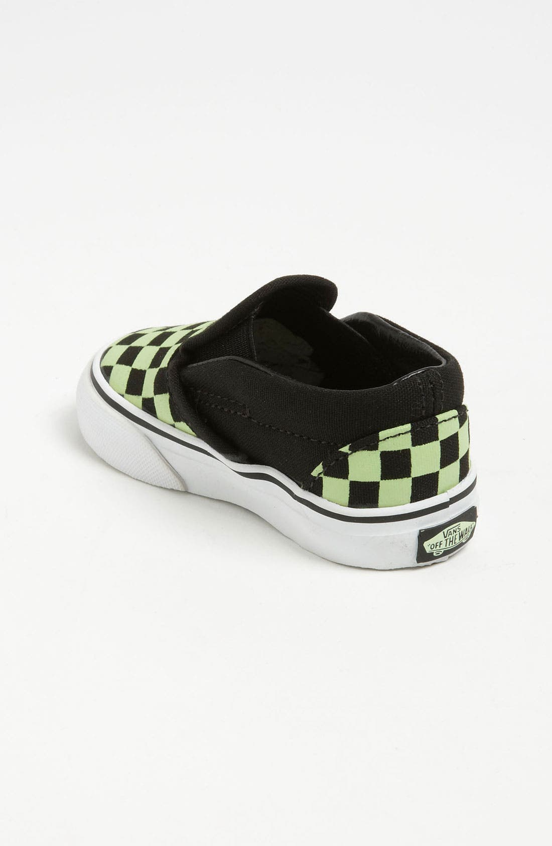 Alternate Image 2  - Vans 'Classic Checker - Glow in the Dark' Slip-On (Baby, Walker & Toddler)