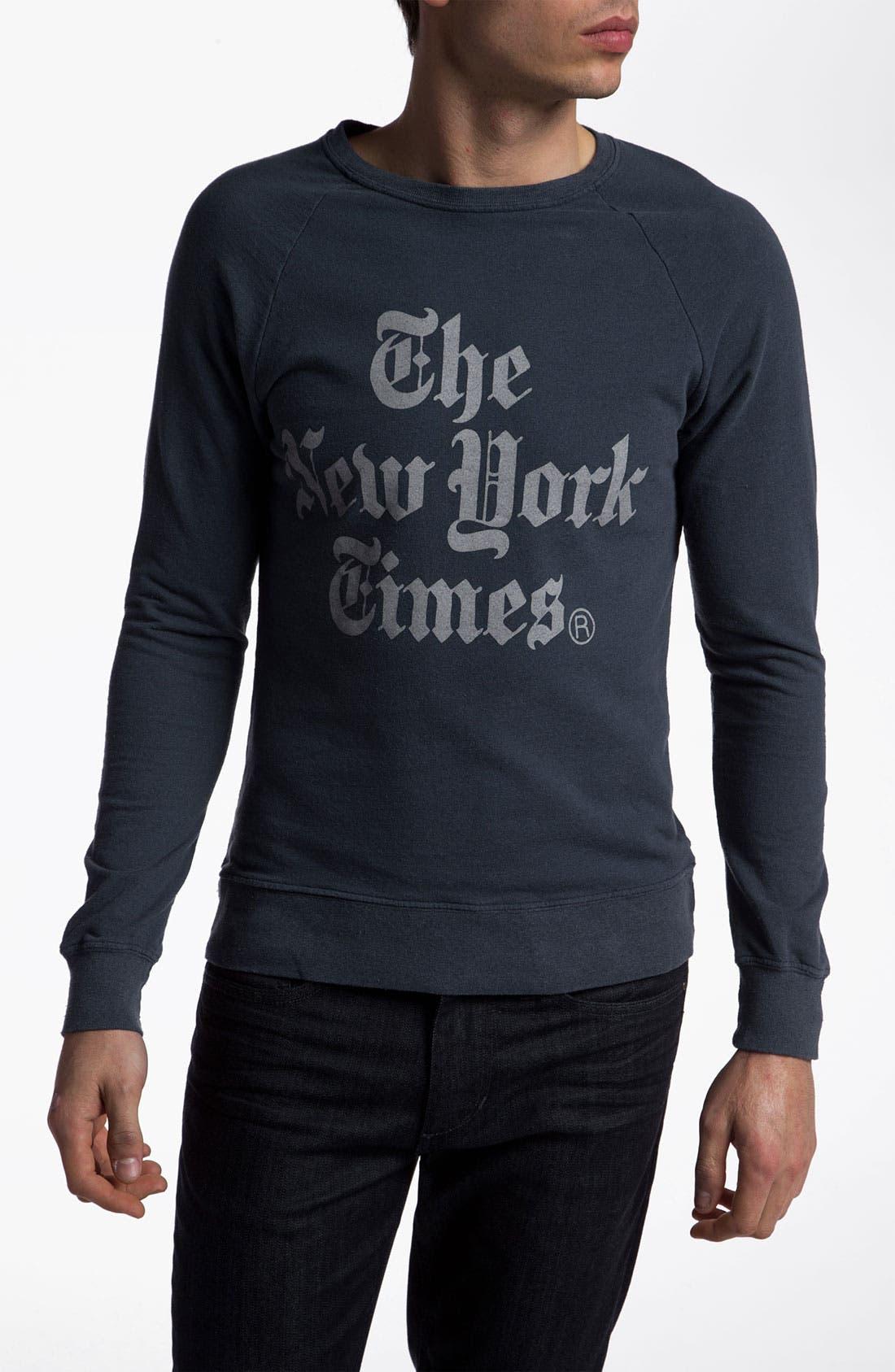 Alternate Image 1 Selected - Altru 'The New York Times®' Graphic Crewneck Sweatshirt