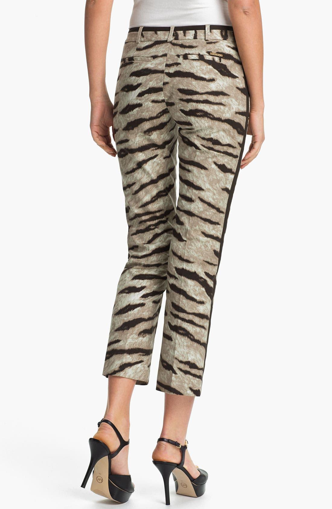 Alternate Image 2  - MICHAEL Michael Kors Tiger Print Ankle Pants