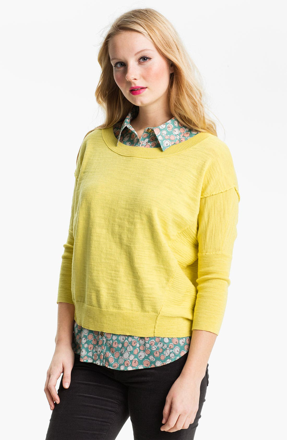 Alternate Image 1 Selected - Caslon® Slub Crewneck Sweater