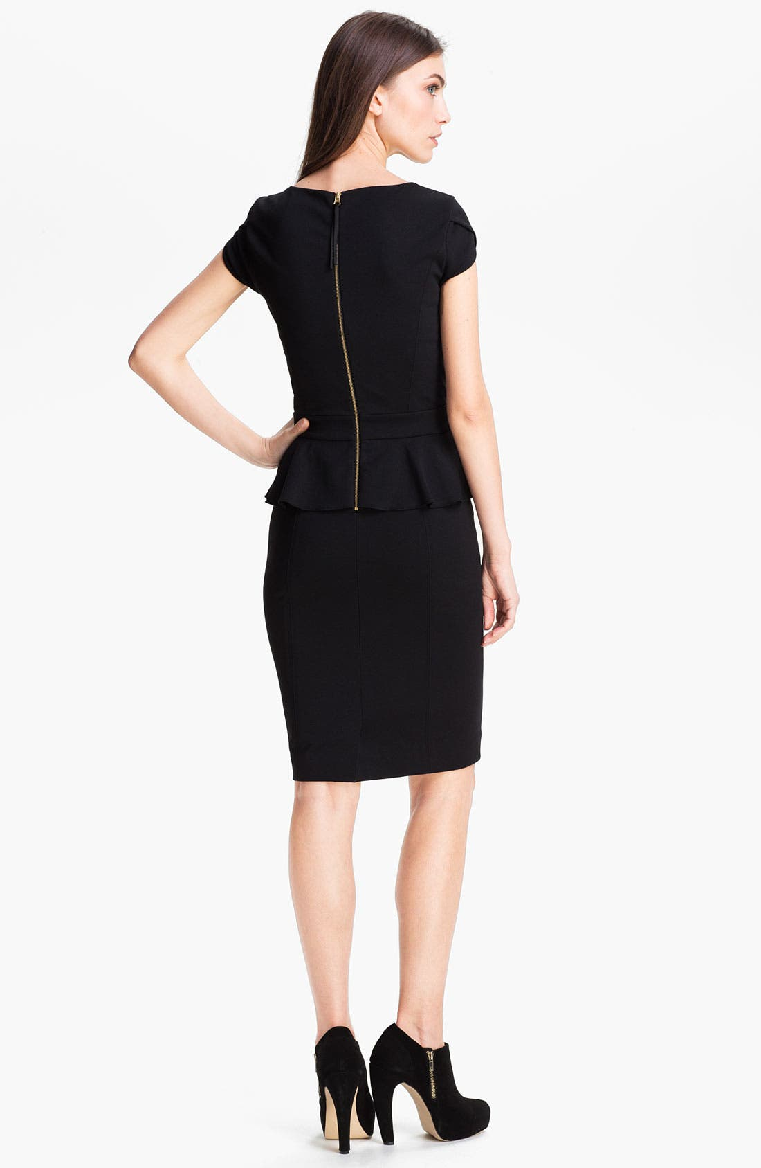 Alternate Image 2  - Rebecca Taylor Peplum Sheath Dress