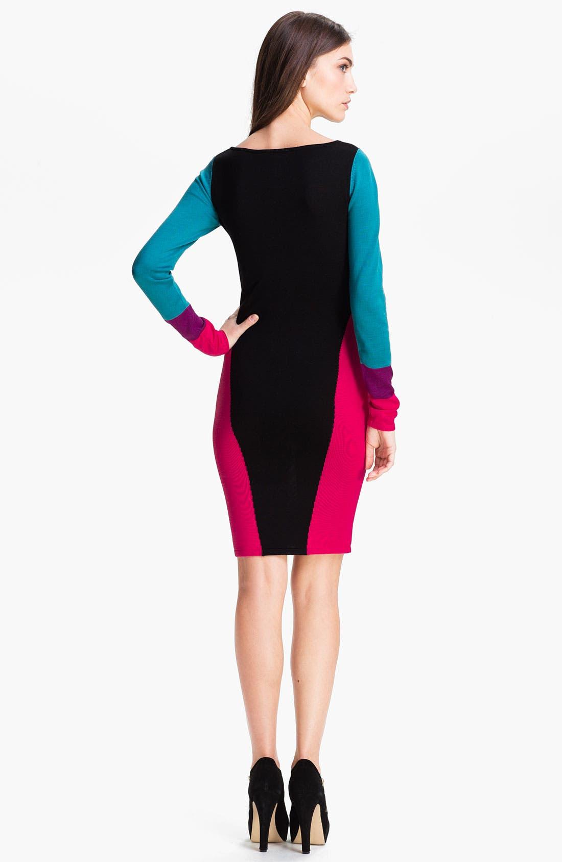 Alternate Image 2  - BCBGMAXAZRIA 'Korin' Silk Blend Sweater Dress