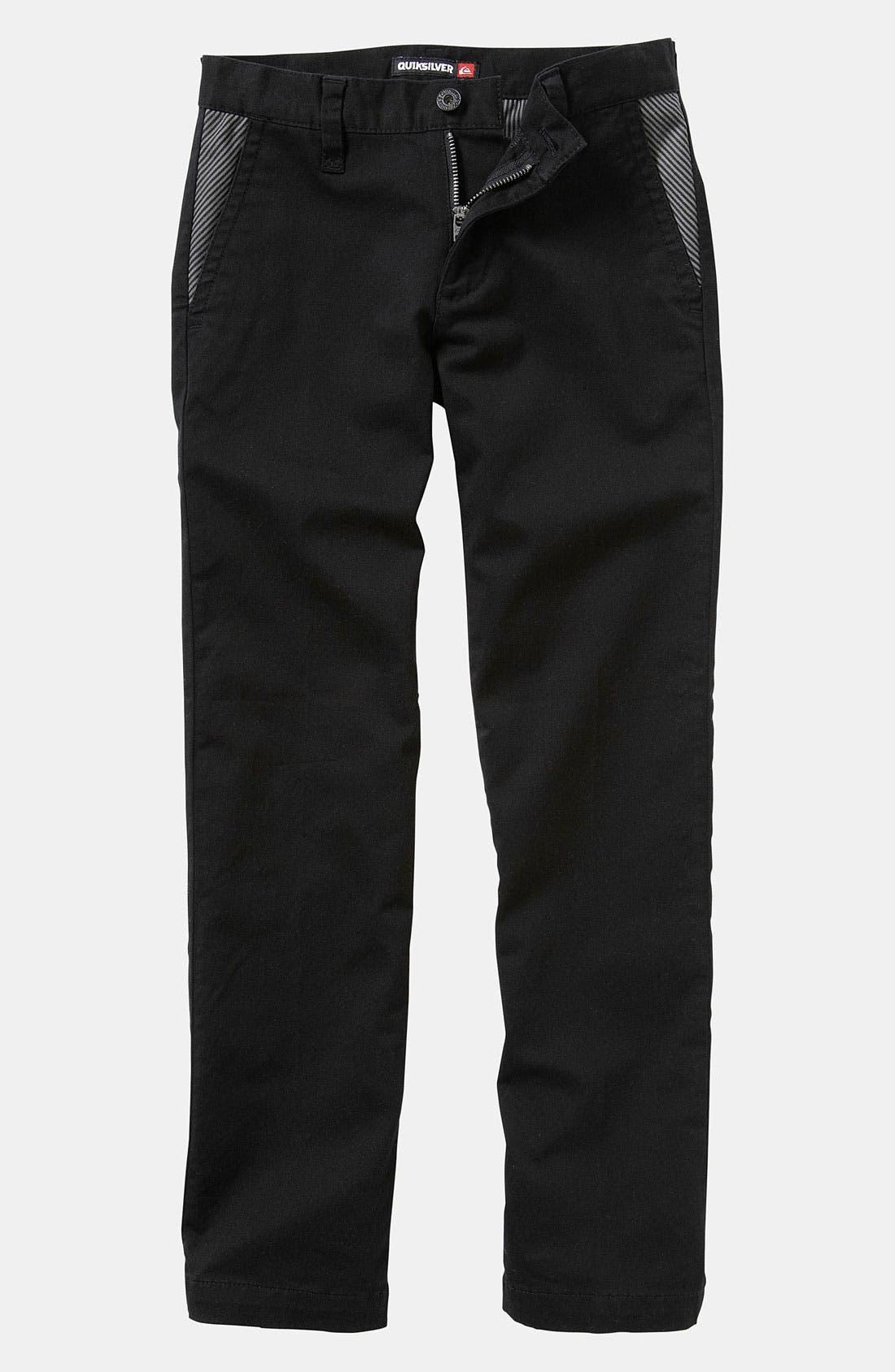 Alternate Image 1 Selected - Quiksilver 'Box Wire' Slim Straight Leg Chino Pants (Big Boys)