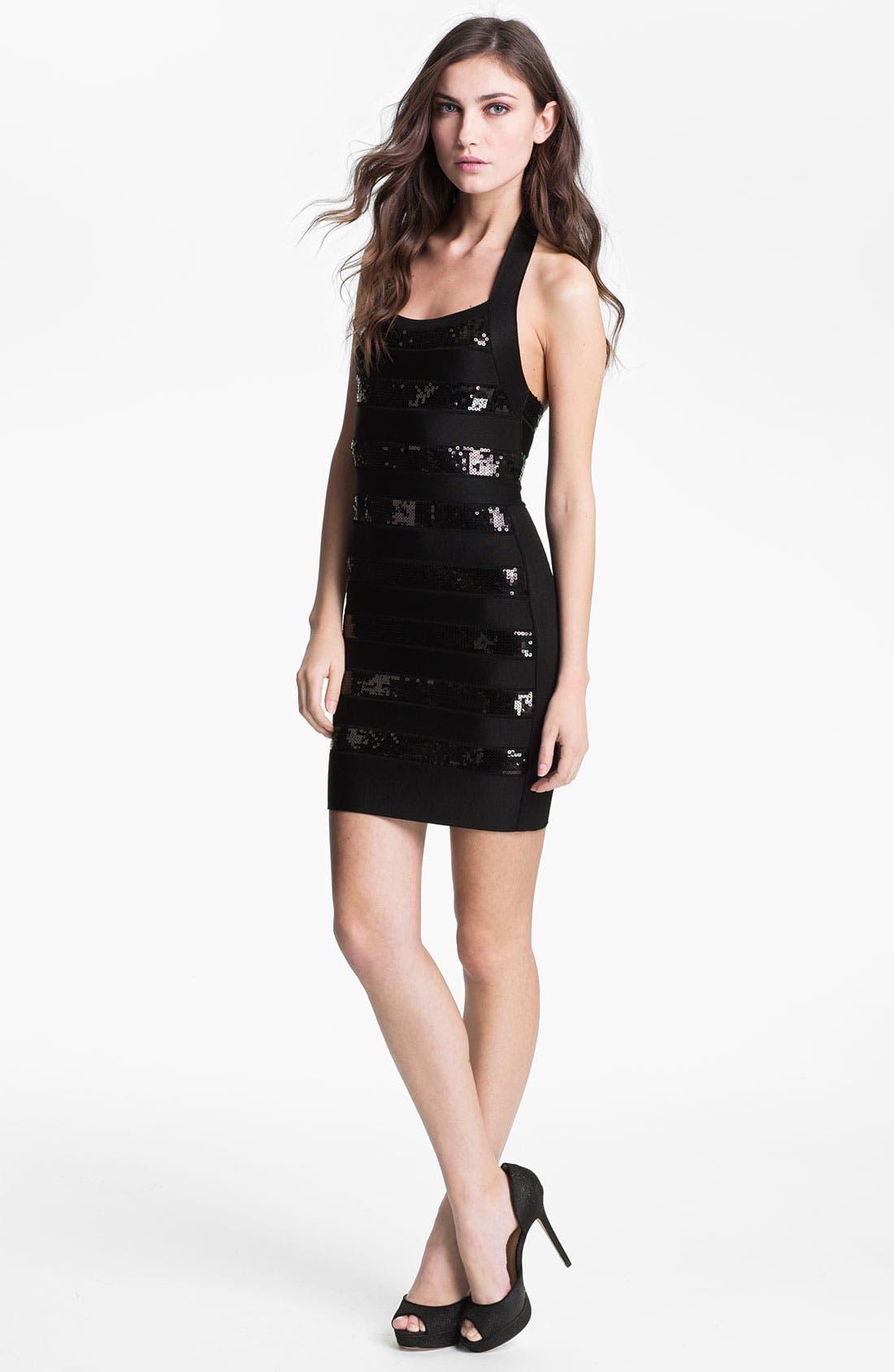 Main Image - French Connection 'Sparkle Spotlight' Ponte Knit Sheath Dress