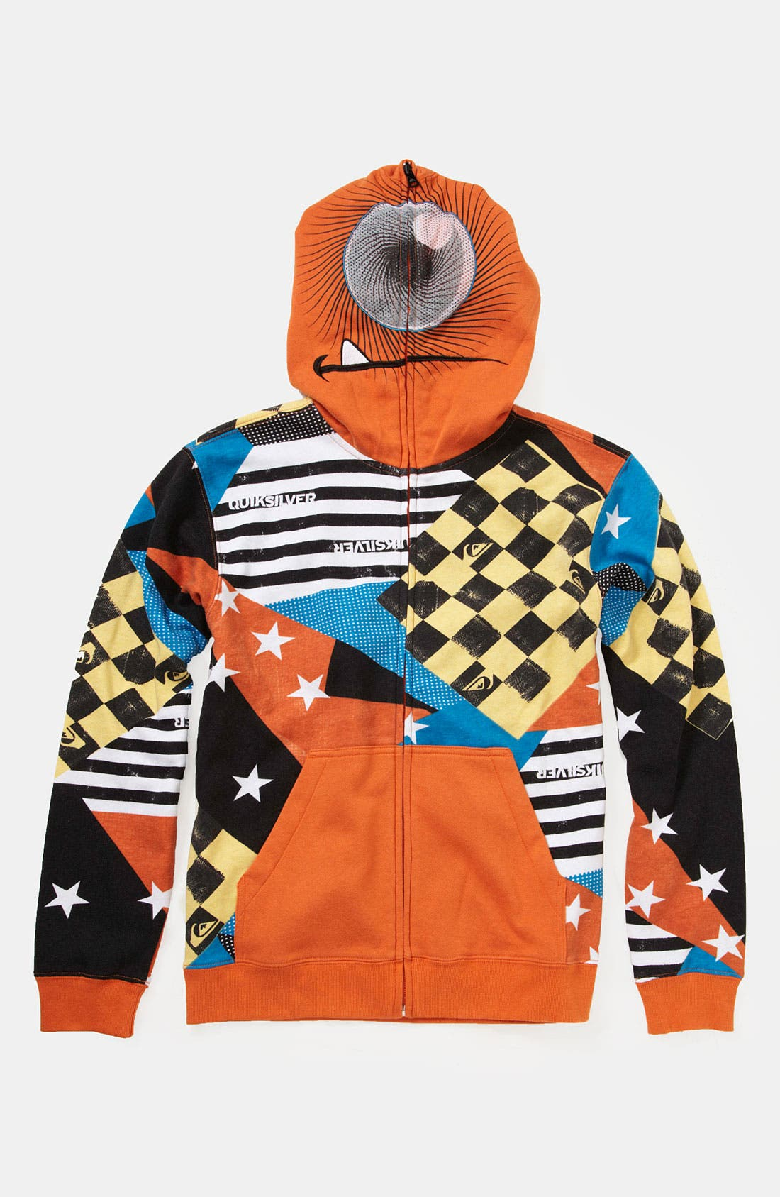 Alternate Image 1 Selected - Quiksilver 'So Sick' Mask Hoodie (Big Boys)