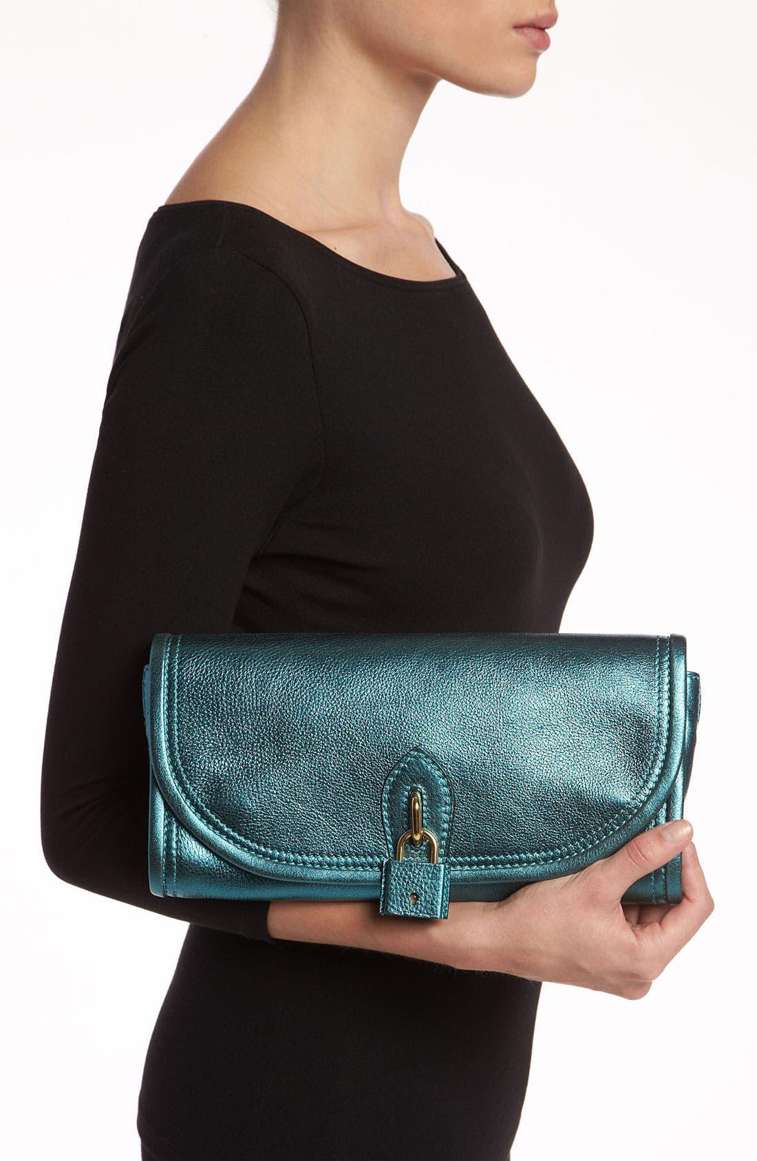 Alternate Image 2  - Burberry 'Soft Grainy Metallic' Leather Clutch