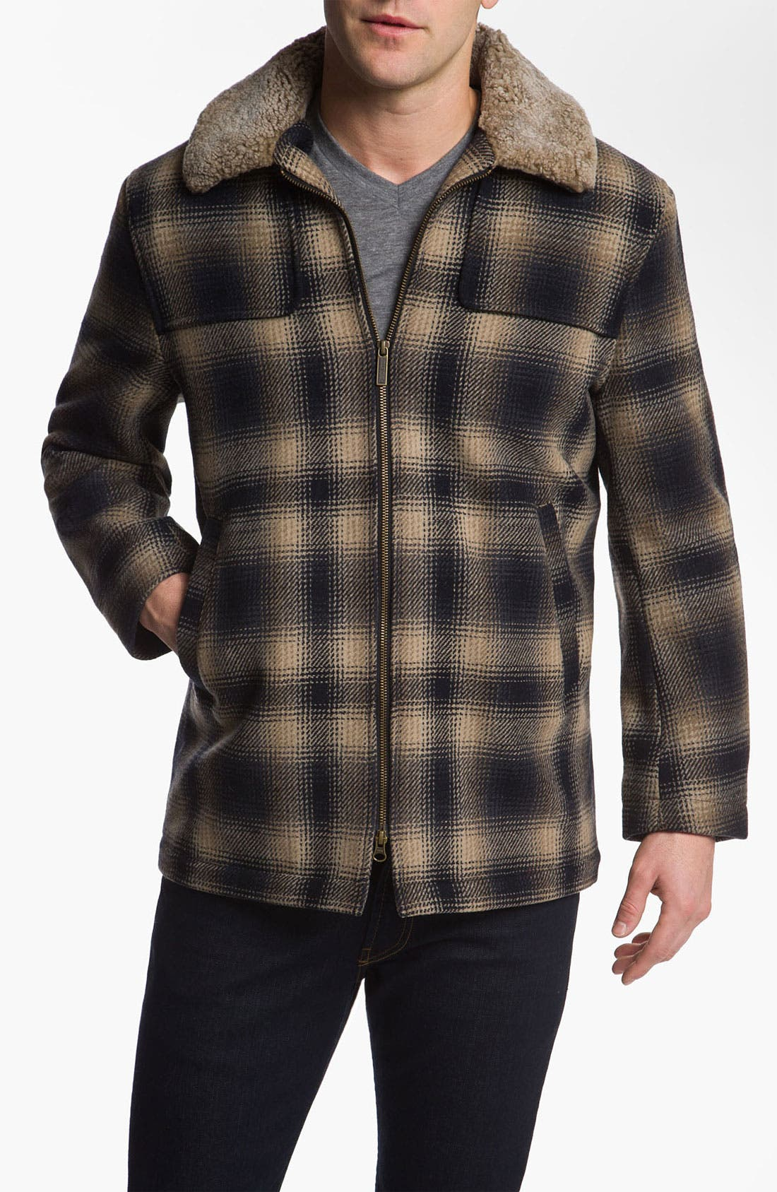 Main Image - Pendleton Shearling Collar Jacket