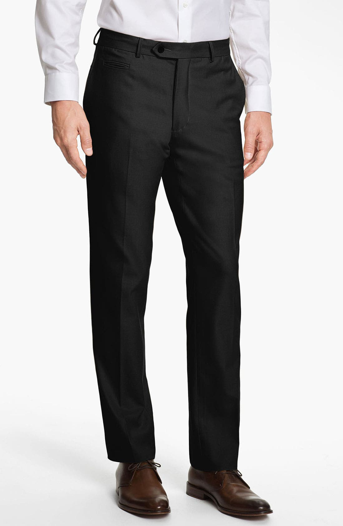 Alternate Image 1 Selected - Scott James 'Damion' Flat Front Wool Trousers