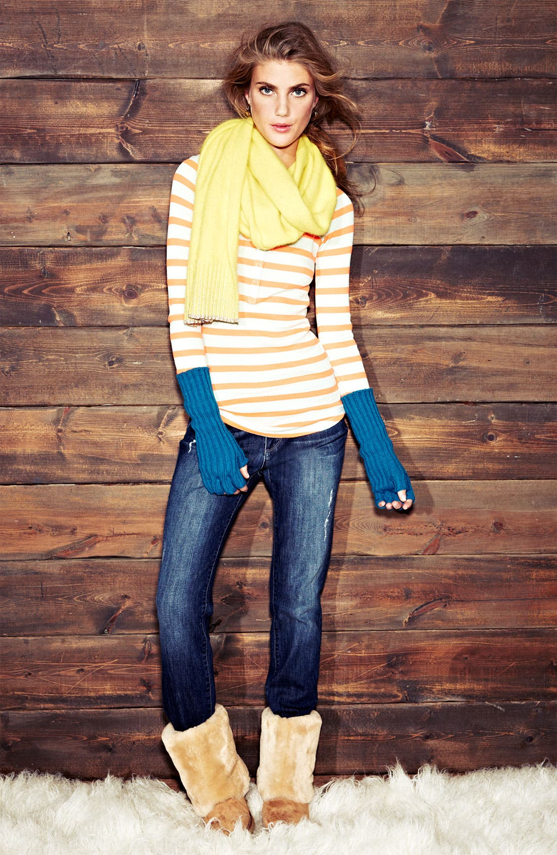 Alternate Image 2  - Splendid 'Neon Pop' Stripe Thermal Henley