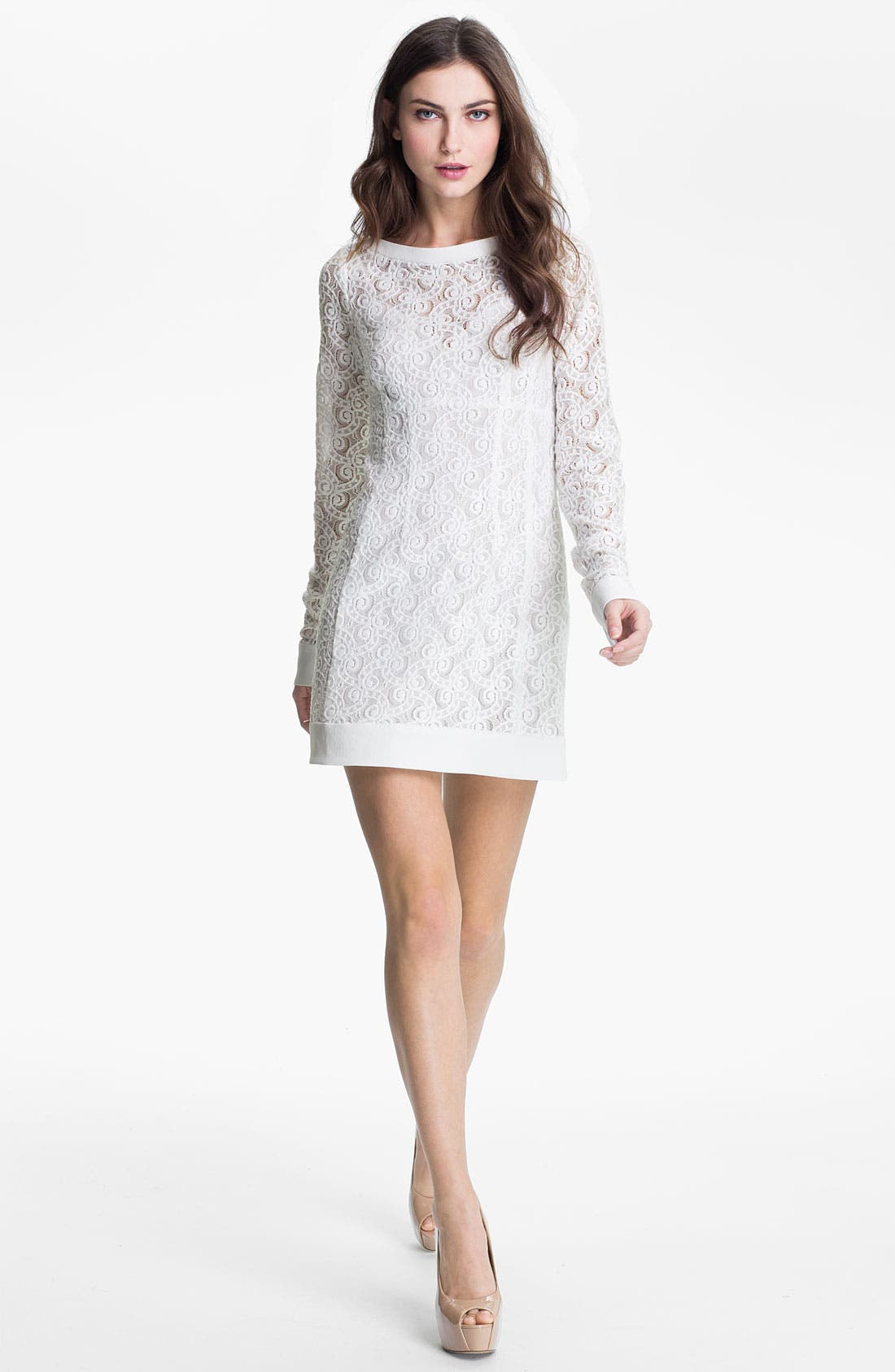 Alternate Image 1 Selected - Nanette Lepore 'Lithograph' Lace Shift Dress