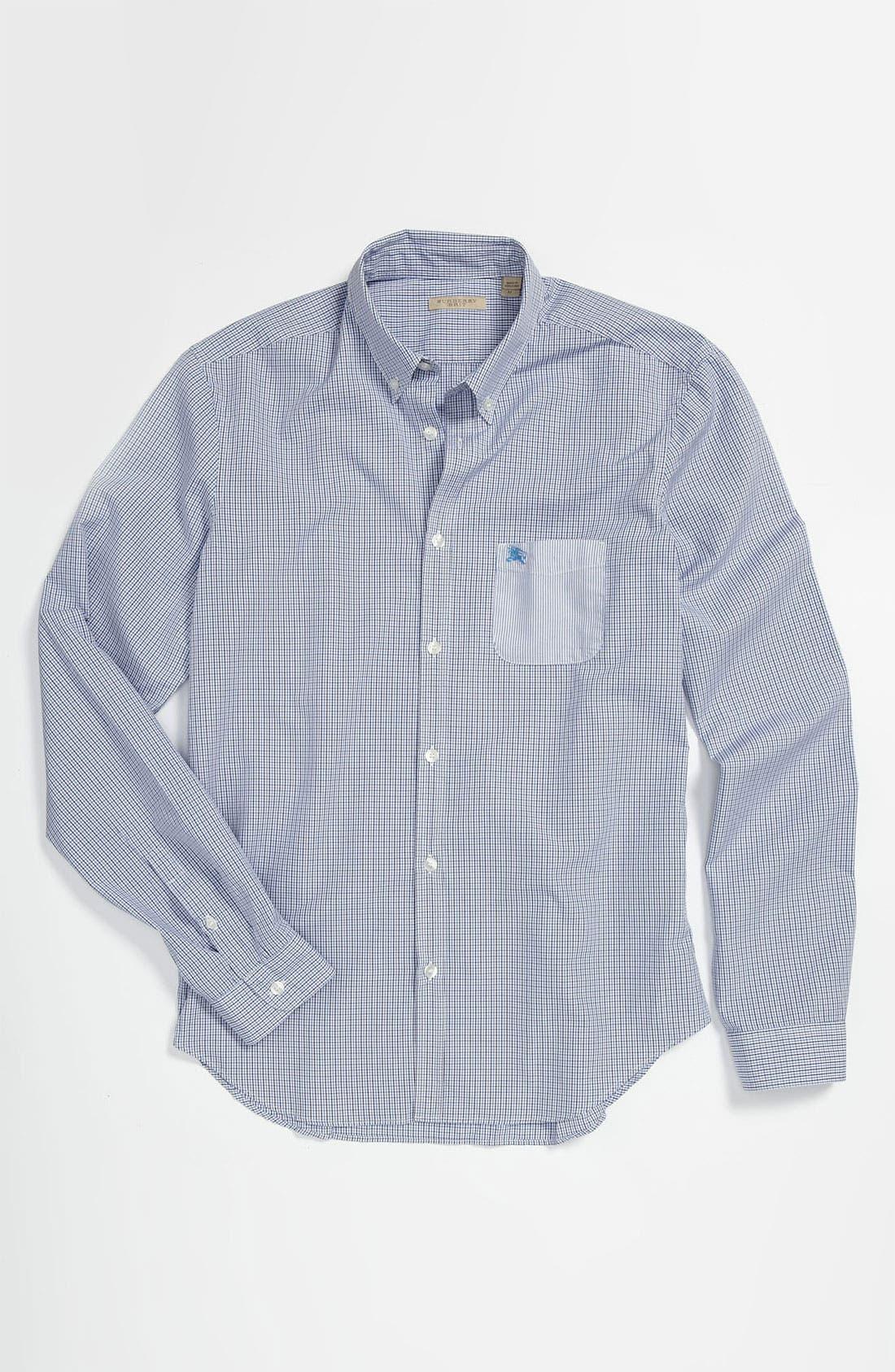 Alternate Image 4  - Burberry Brit 'Adken' Miniature Tattersall Check Sport Shirt
