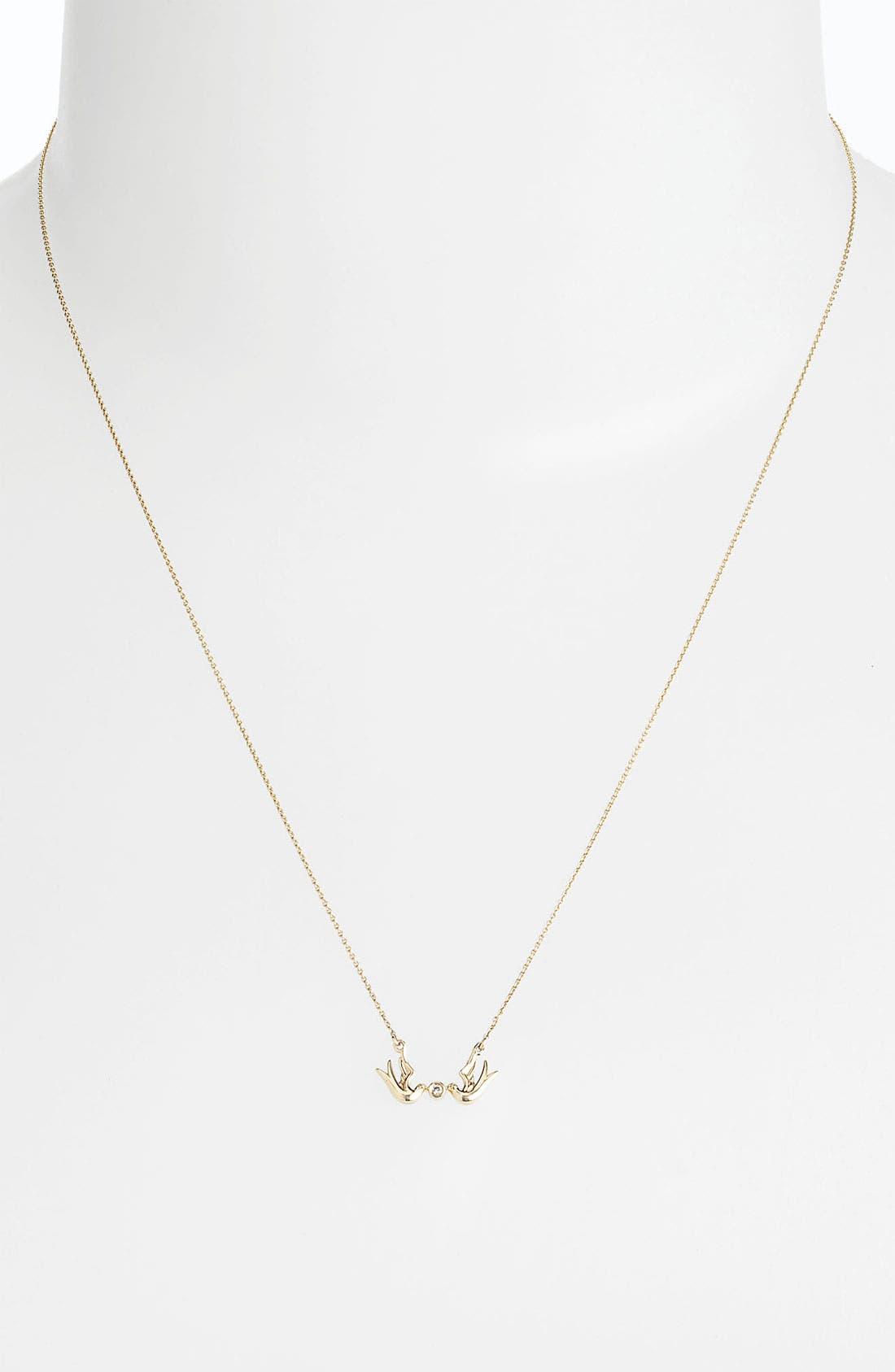Alternate Image 2  - Whitney Stern Double Dove Pendant Necklace