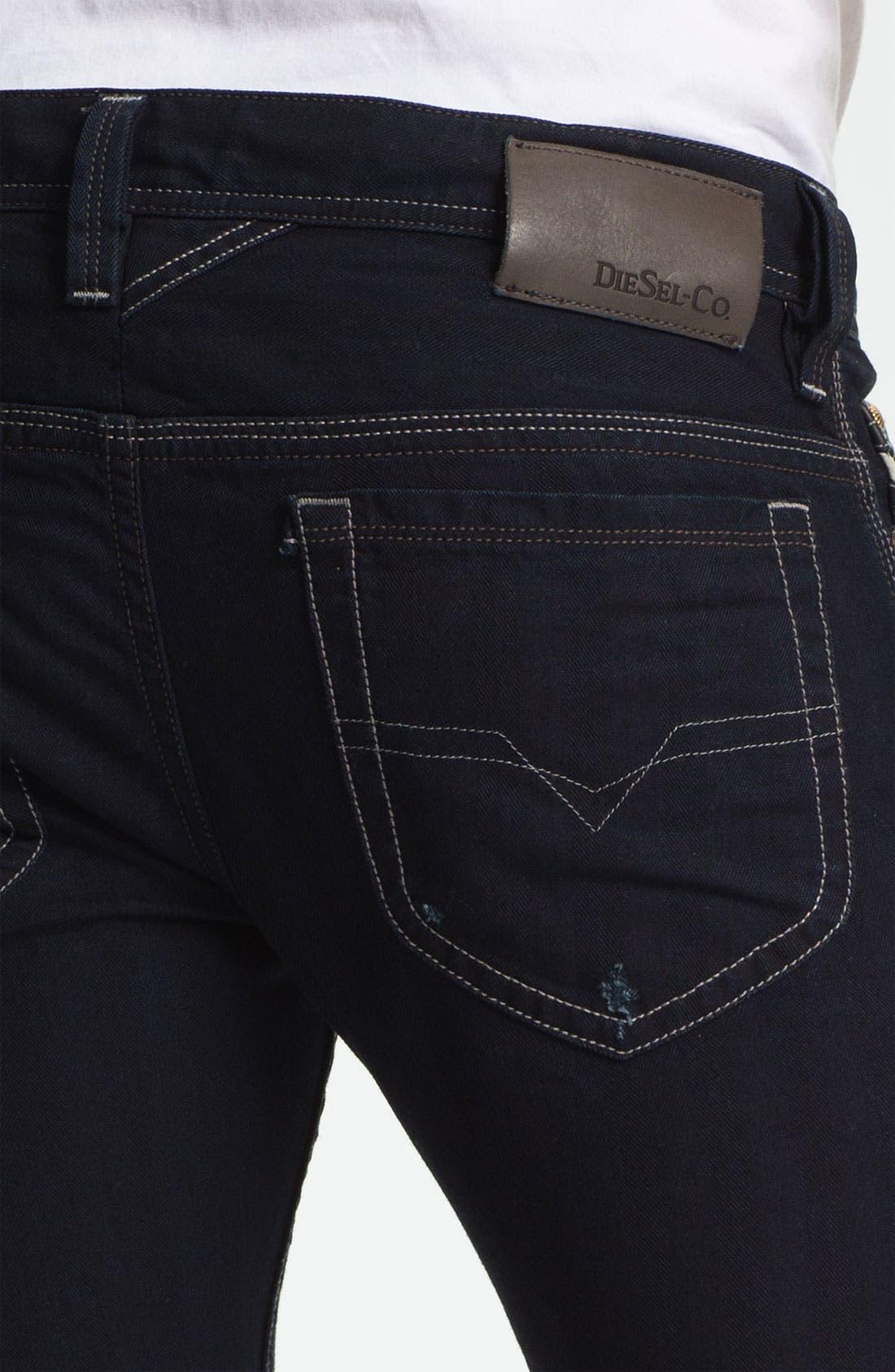 Alternate Image 4  - DIESEL® 'Thanaz' Slim Skinny Leg Jeans (0601K)