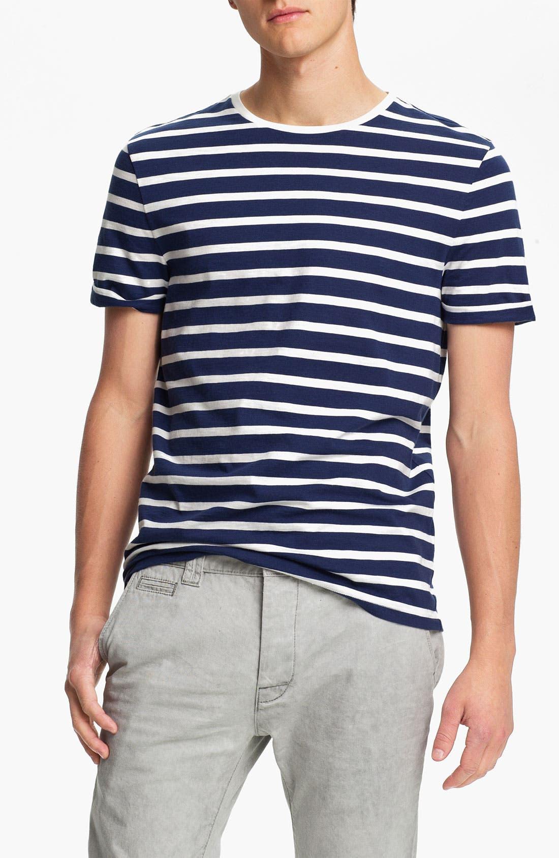 Alternate Image 1 Selected - Topman 'High Roller' Sailor Stripe T-Shirt