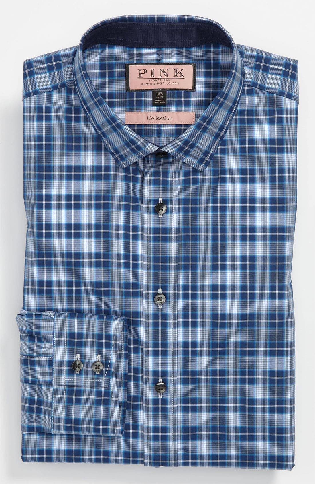 Main Image - Thomas Pink Slim Fit Blue Collection Dress Shirt